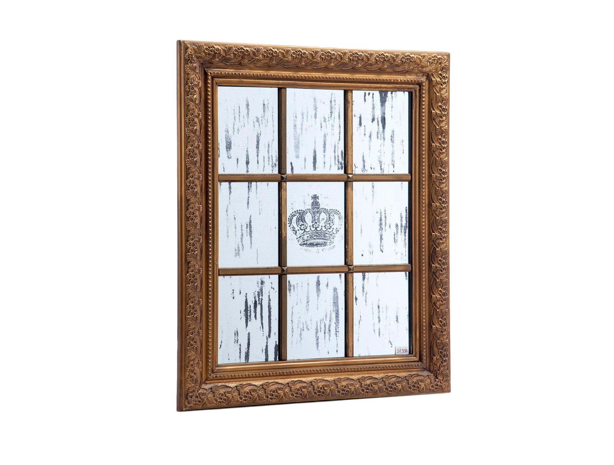 ЗеркалоНастенные зеркала<br>Зеркало,украшенное рисунком и старением , в декорированной раме.<br><br>Material: Дерево<br>Width см: 72<br>Depth см: 6<br>Height см: 107
