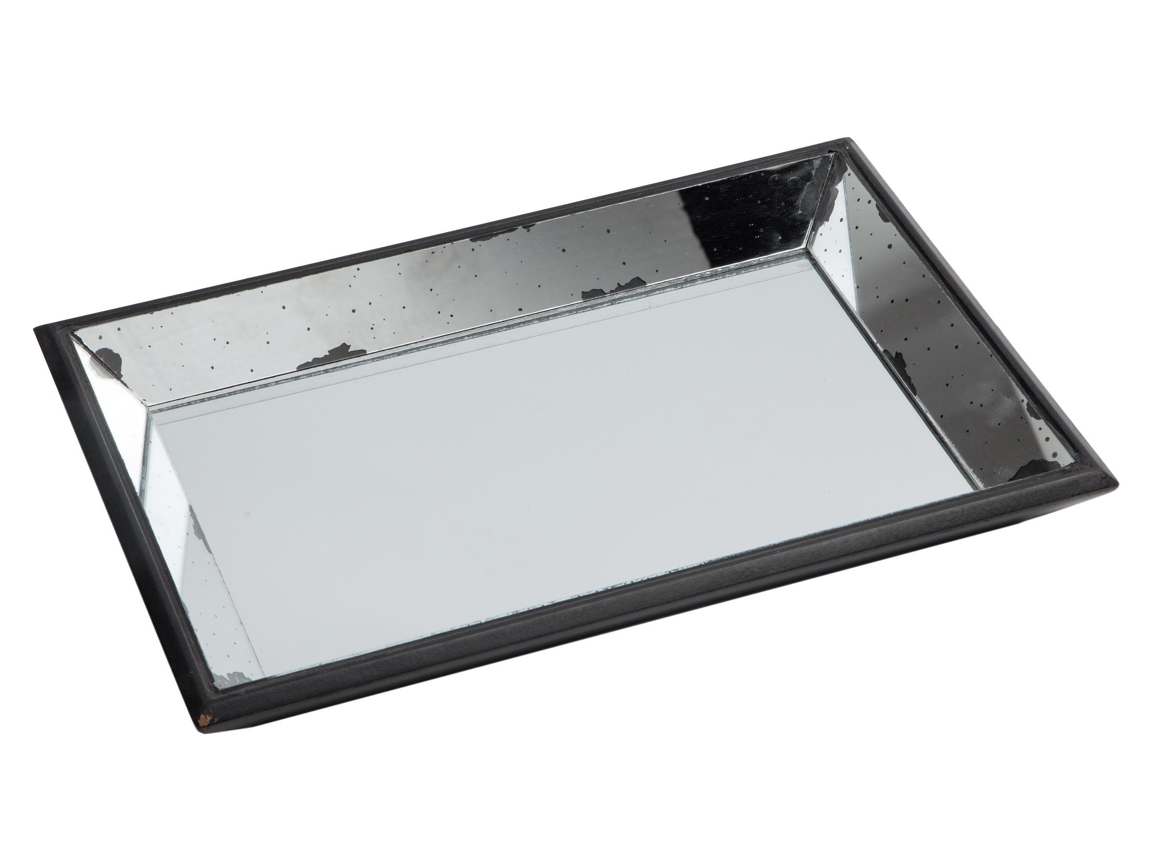 Поднос зеркальныйДекоративные подносы<br>Поднос прямоугольный из зеркального стекла со старением.<br><br>Material: Стекло<br>Ширина см: 50<br>Высота см: 5<br>Глубина см: 33