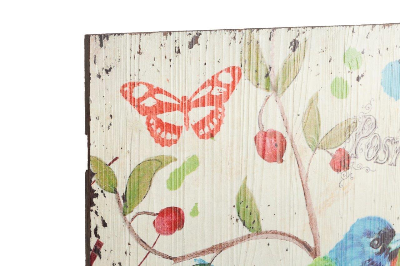 Декоративная настенная панель Notti Estive OneПанно<br>Декоративные настенные панели, представленные в нашей коллекции Notti Estive — идеальный выбор для реализации интересных идей при обновлении интерьера и обустройстве вашего дома. В коллецию входят панели, отличающиеся разнообразием композиции рисунка и разноообразием оттенков. На панелях изображены яркие разноцветные птицы, цветы, бабочки. Создайте в доме хорошее настроение!<br><br>Material: МДФ<br>Length см: None<br>Width см: 40,13<br>Depth см: 2,03<br>Height см: 40,13