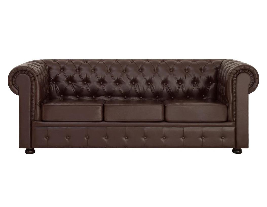Диван ChesterКожаные диваны<br>Диван Честер 3-х местный - элегантная модель, приковывающая к себе особое внимание. В дизайне этой модели присутствует классика, благодаря округлым формам и сглаженным линиям. Строгий внешний вид дивана весьма обманчив, так как за ним скрывается элегантная мягкость и удобство модели. Мягкая спинка, широкие подлокотники и упругое сиденье обеспечивают комфортный отдых.<br><br>Material: Кожа<br>Length см: None<br>Width см: 224<br>Depth см: 88<br>Height см: 75