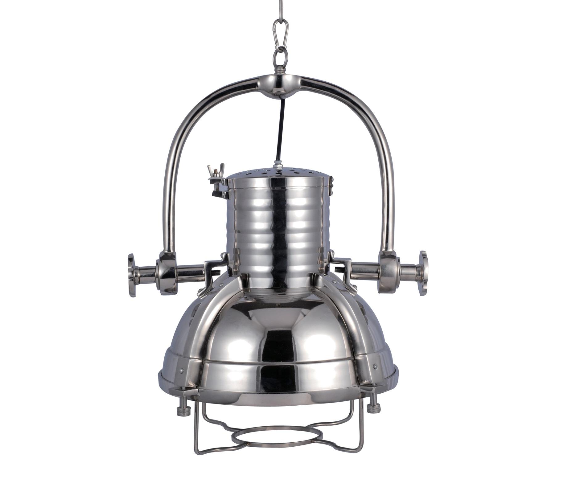 Светильник Fork ChromeПодвесные светильники<br>Подвесной светильник Fork выполнен в современном стиле лофт. Некая брутальность чувствуется в каждой детали этого интересного изделия,выполненного полностью из металла. Подвесной светильник станет отличным дополнением для Вашей современной кухни или модного бара.&amp;lt;div&amp;gt;&amp;lt;br&amp;gt;&amp;lt;/div&amp;gt;&amp;lt;div&amp;gt;&amp;lt;div&amp;gt;Вид цоколя: E27&amp;lt;/div&amp;gt;&amp;lt;div&amp;gt;Мощность: &amp;amp;nbsp;40W&amp;amp;nbsp;&amp;lt;/div&amp;gt;&amp;lt;div&amp;gt;Количество ламп: 1&amp;lt;/div&amp;gt;&amp;lt;/div&amp;gt;<br><br>Material: Металл<br>Height см: 50<br>Diameter см: 46