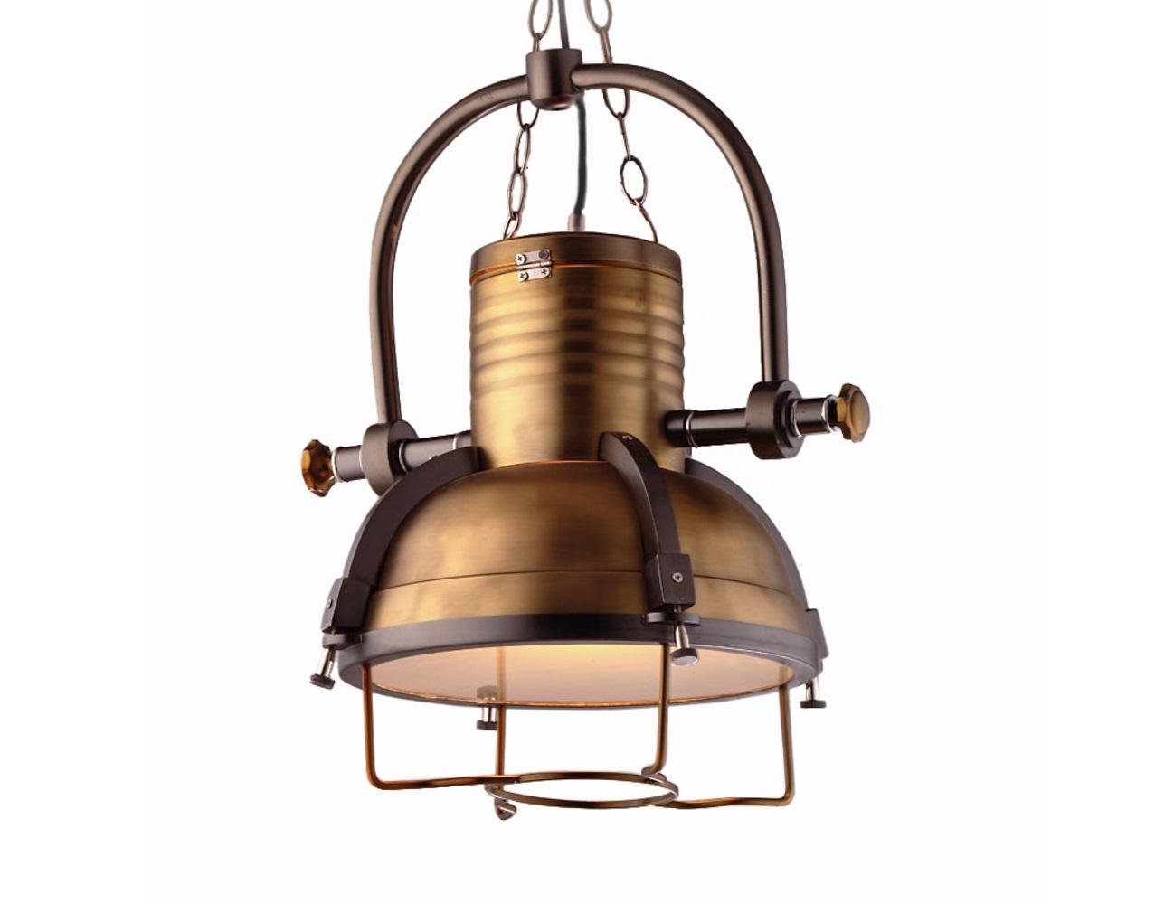 Светильник Fork BrassПодвесные светильники<br>Подвесной светильник Fork выполнен в современном стиле лофт. Некая брутальность чувствуется в каждой детали этого интересного изделия,выполненного полностью из металла. Подвесной светильник станет отличным дополнением для Вашей современной кухни или модного бара.&amp;lt;div&amp;gt;&amp;lt;br&amp;gt;&amp;lt;/div&amp;gt;&amp;lt;div&amp;gt;&amp;lt;div&amp;gt;Вид цоколя: E27&amp;lt;/div&amp;gt;&amp;lt;div&amp;gt;Мощность: &amp;amp;nbsp;40W&amp;amp;nbsp;&amp;lt;/div&amp;gt;&amp;lt;div&amp;gt;Количество ламп: 1&amp;lt;/div&amp;gt;&amp;lt;/div&amp;gt;<br><br>Material: Металл<br>Height см: 50<br>Diameter см: 46