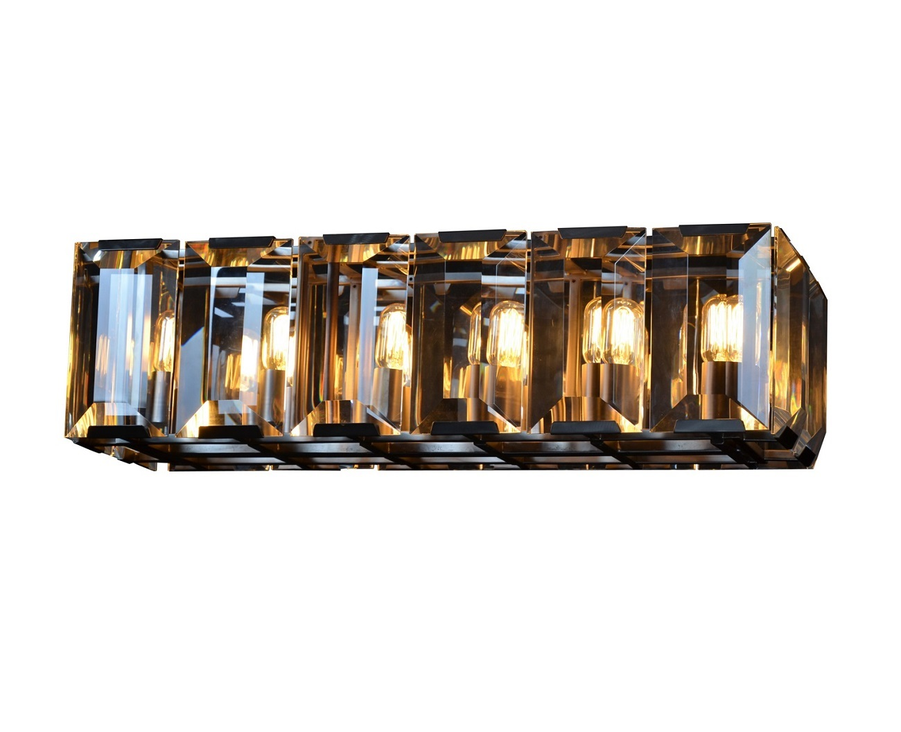 Подвесной светильник HarlowПодвесные светильники<br>Люстра Harlow удачно подчеркнет классический и современный интерьер, создаст атмосферу праздничности, и даже привнесет в помещение немного помпезности. Она прекрасно подойдет и для общественных, и для частных интерьеров. Такая люстра, несомненно, укажет на изысканный и утонченный вкус её обладателя.&amp;lt;div&amp;gt;&amp;lt;br&amp;gt;&amp;lt;/div&amp;gt;&amp;lt;div&amp;gt;&amp;lt;div&amp;gt;Вид цоколя: E14&amp;lt;/div&amp;gt;&amp;lt;div&amp;gt;Мощность: &amp;amp;nbsp;25W&amp;amp;nbsp;&amp;lt;/div&amp;gt;&amp;lt;div&amp;gt;Количество ламп: 12 (в комплект не входит)&amp;lt;/div&amp;gt;&amp;lt;div&amp;gt;&amp;lt;br&amp;gt;&amp;lt;/div&amp;gt;&amp;lt;/div&amp;gt;<br><br>Material: Стекло<br>Width см: 88<br>Depth см: 32<br>Height см: 28<br>Diameter см: None
