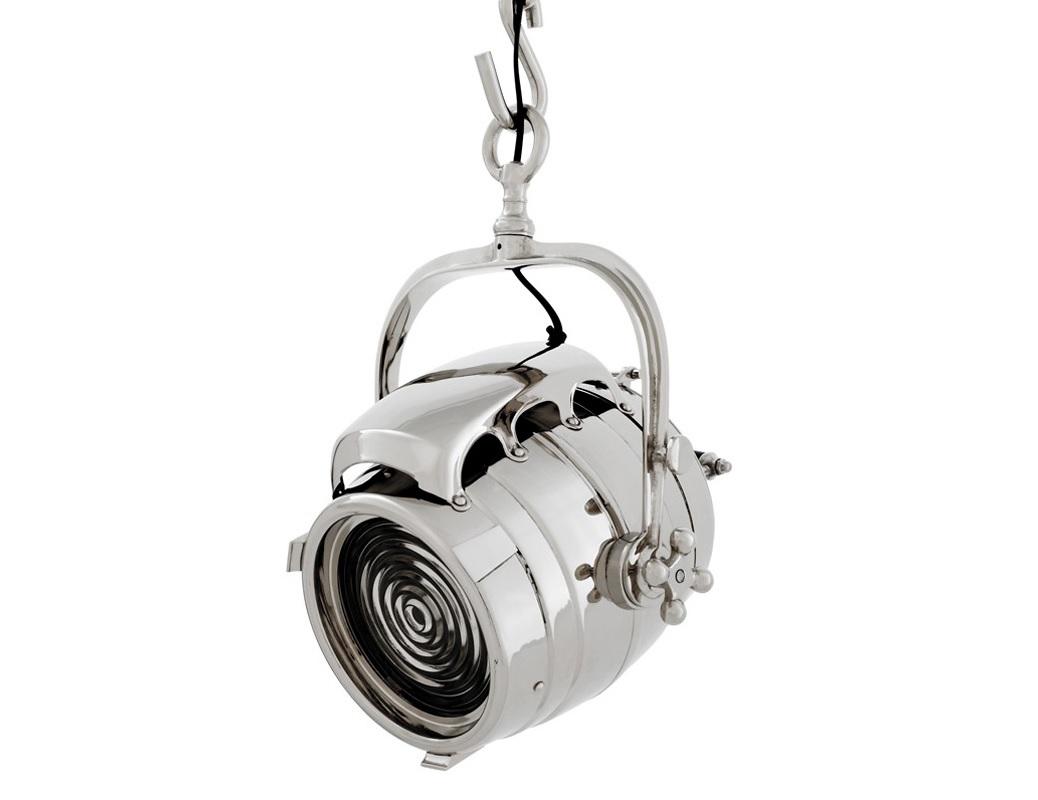 Подвесной светильник HavillandПодвесные светильники<br>Подвесной светильник из коллекции De Havilland выполнен из никелированного металла в виде проектора. Светильник крепится на крюк.&amp;lt;div&amp;gt;&amp;lt;br&amp;gt;&amp;lt;/div&amp;gt;&amp;lt;div&amp;gt;&amp;lt;div&amp;gt;Вид цоколя: E27&amp;lt;/div&amp;gt;&amp;lt;div&amp;gt;Мощность лампы: 40W&amp;lt;/div&amp;gt;&amp;lt;div&amp;gt;Количество ламп: 2&amp;lt;/div&amp;gt;&amp;lt;/div&amp;gt;<br><br>Material: Металл<br>Ширина см: 24.0<br>Высота см: 43.0<br>Глубина см: 24.0
