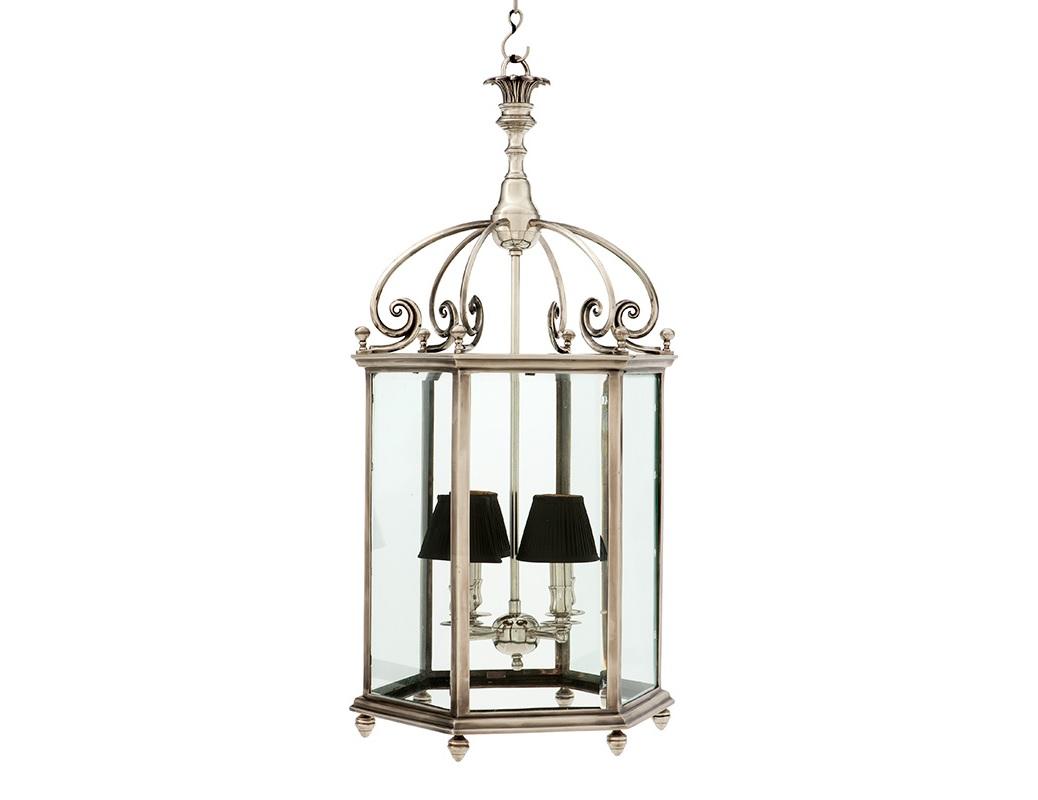 Подвесной светильник QuartierЛюстры подвесные<br>Подвесной светильник-латерна Quartier выполнен в виде старинного фонаря со стеклянными створками. Цвет металла: состаренное серебро. Крепление осуществляется на крюк. Высоту можно регулировать за счет звеньев цепи.&amp;lt;div&amp;gt;&amp;lt;br&amp;gt;&amp;lt;/div&amp;gt;&amp;lt;div&amp;gt;&amp;lt;div&amp;gt;Вид цоколя: E14&amp;lt;/div&amp;gt;&amp;lt;div&amp;gt;Мощность лампы: 40W&amp;lt;/div&amp;gt;&amp;lt;div&amp;gt;Количество ламп: 4&amp;lt;/div&amp;gt;&amp;lt;/div&amp;gt;&amp;lt;div&amp;gt;&amp;lt;br&amp;gt;&amp;lt;/div&amp;gt;&amp;lt;div&amp;gt;Абажуры в комплект не входят.&amp;lt;/div&amp;gt;<br><br>Material: Металл<br>Ширина см: 45<br>Высота см: 90<br>Глубина см: 45