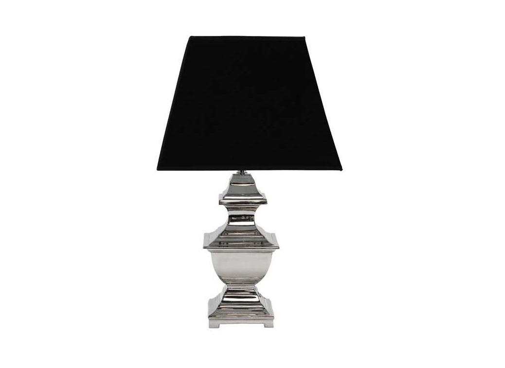 Настольная лампа Lamp MarylandДекоративные лампы<br>База лампы из металла, цвет - никель. Абажур как на фото.&amp;lt;div&amp;gt;&amp;lt;br&amp;gt;&amp;lt;/div&amp;gt;&amp;lt;div&amp;gt;&amp;lt;div&amp;gt;Вид цоколя: E27&amp;lt;/div&amp;gt;&amp;lt;div&amp;gt;Мощность лампы: 40W&amp;lt;/div&amp;gt;&amp;lt;div&amp;gt;Количество ламп: 1&amp;lt;/div&amp;gt;&amp;lt;/div&amp;gt;<br><br>Material: Металл<br>Height см: 50<br>Diameter см: 30
