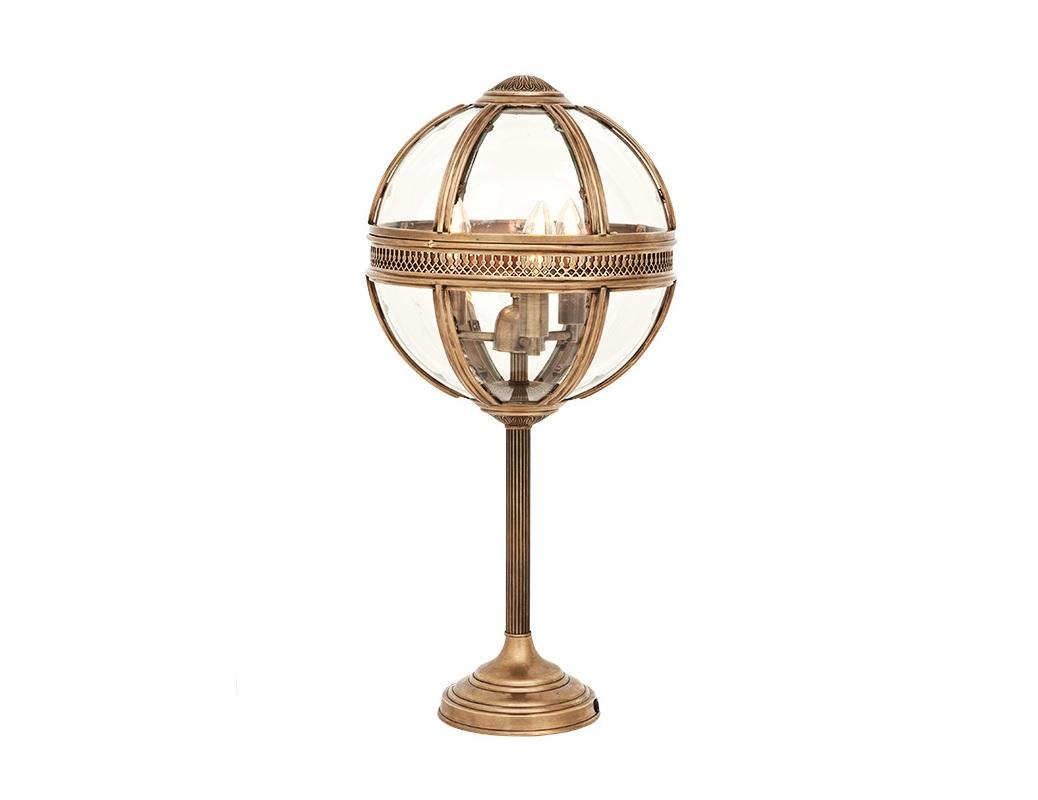 Настольная лампа ResidentialДекоративные лампы<br>Настольная лампа Residential с оригинальным дизайном плафона в виде стеклянного шара с откидной крышкой. Цвет арматуры - состаренная латунь.&amp;lt;div&amp;gt;&amp;lt;br&amp;gt;&amp;lt;/div&amp;gt;&amp;lt;div&amp;gt;&amp;lt;div&amp;gt;Вид цоколя: E14&amp;lt;/div&amp;gt;&amp;lt;div&amp;gt;Мощность лампы: 40W&amp;lt;/div&amp;gt;&amp;lt;div&amp;gt;Количество ламп: 3&amp;lt;/div&amp;gt;&amp;lt;/div&amp;gt;<br><br>Material: Металл<br>Height см: 61<br>Diameter см: 30