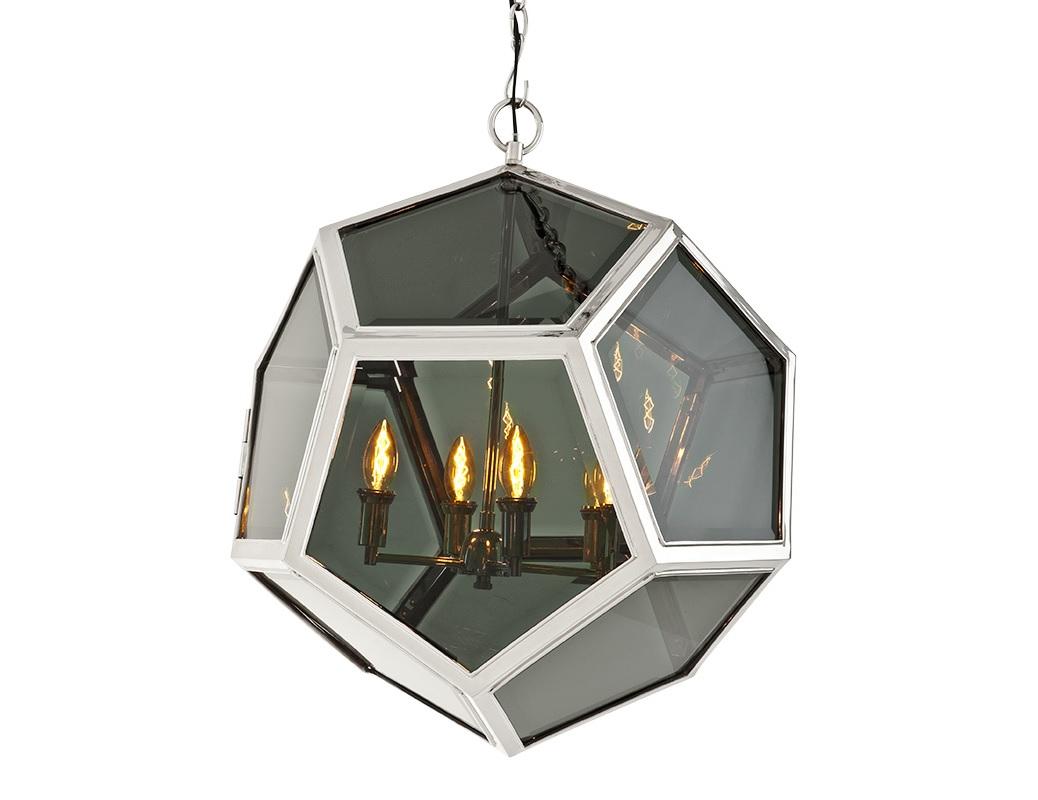 Подвесной светильник Yorkshire LЛюстры подвесные<br>Подвесной светильник Yorkshire L с оригинальным дизайном плафона в виде стеклянного шара в металлических рамках. Внутри шара располагаются лампы. Цвет арматуры - никелевый. Цвет стекла - дымчато-серый. Крепление осуществляется на крюк. Высоту можно регулировать за счет звеньев цепи.&amp;lt;div&amp;gt;&amp;lt;br&amp;gt;&amp;lt;/div&amp;gt;&amp;lt;div&amp;gt;&amp;lt;div&amp;gt;Вид цоколя: E14&amp;lt;/div&amp;gt;&amp;lt;div&amp;gt;Мощность лампы: 40W&amp;lt;/div&amp;gt;&amp;lt;div&amp;gt;Количество ламп: 4&amp;lt;/div&amp;gt;&amp;lt;/div&amp;gt;<br><br>Material: Металл<br>Ширина см: 63<br>Высота см: 65<br>Глубина см: 63