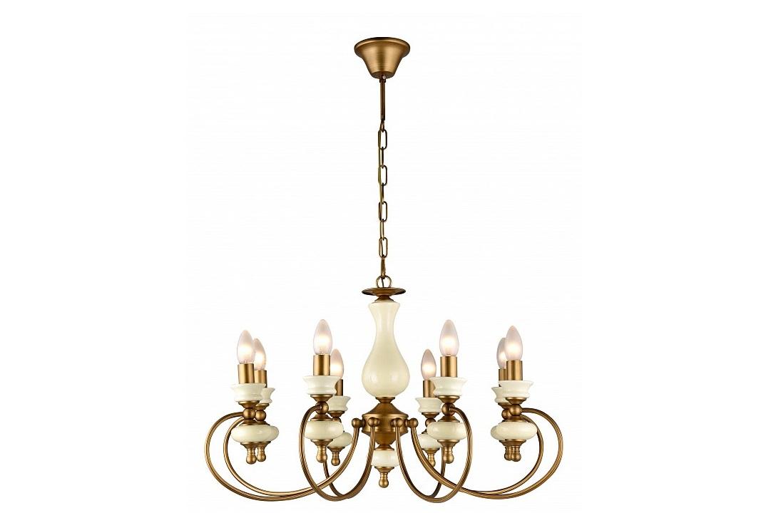 Подвесной светильник RealtoПодвесные светильники<br>&amp;lt;div&amp;gt;&amp;lt;div&amp;gt;Вид цоколя: E14&amp;lt;/div&amp;gt;&amp;lt;div&amp;gt;Мощность: 40W&amp;lt;/div&amp;gt;&amp;lt;div&amp;gt;Количество ламп: 8 (нет в комплекте)&amp;lt;/div&amp;gt;&amp;lt;/div&amp;gt;&amp;lt;div&amp;gt;&amp;lt;br&amp;gt;&amp;lt;/div&amp;gt;&amp;lt;div&amp;gt;Материал арматуры - керамика, металл&amp;lt;/div&amp;gt;<br><br>Material: Металл<br>Height см: 43<br>Diameter см: 72