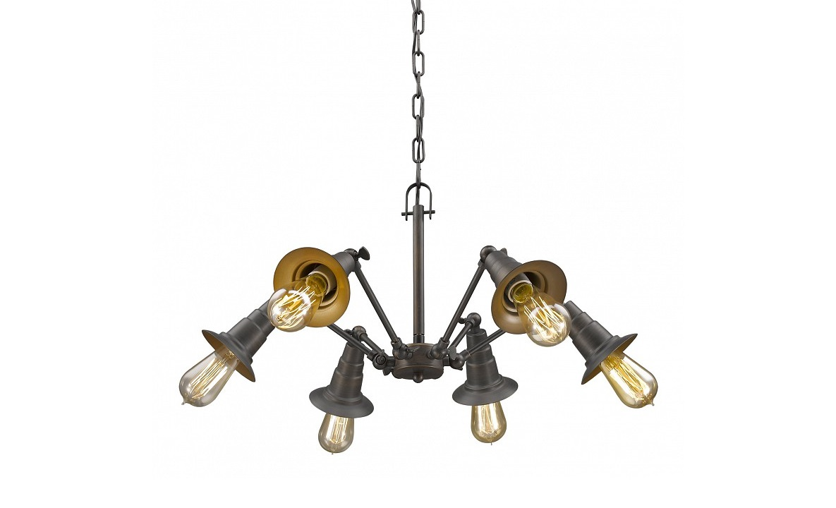 Подвесной светильник SpiderЛюстры подвесные<br>&amp;lt;div&amp;gt;Вид цоколя: E27&amp;lt;/div&amp;gt;&amp;lt;div&amp;gt;Мощность: 60W&amp;lt;/div&amp;gt;&amp;lt;div&amp;gt;Количество ламп: 6 (нет в комплекте)&amp;lt;/div&amp;gt;<br><br>Material: Металл<br>Высота см: 46