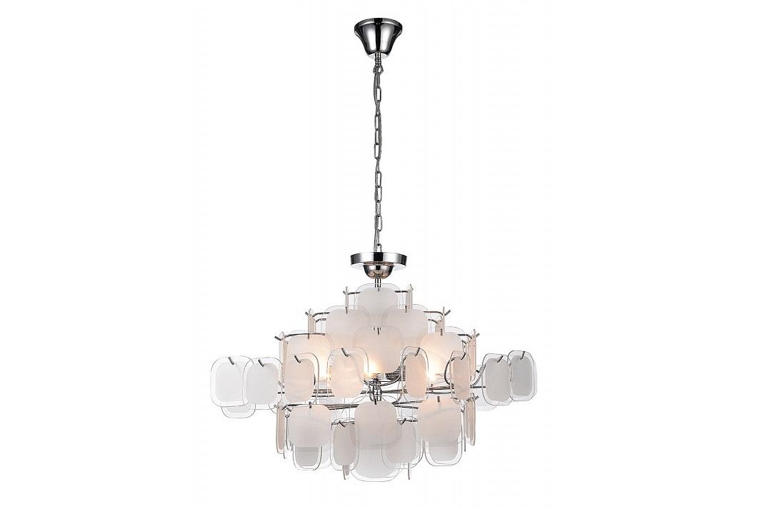Подвесной светильник Glass-piecesЛюстры подвесные<br>&amp;lt;div&amp;gt;&amp;lt;div&amp;gt;Вид цоколя: E14&amp;lt;/div&amp;gt;&amp;lt;div&amp;gt;Мощность: 40W&amp;lt;/div&amp;gt;&amp;lt;div&amp;gt;Количество ламп: 6 (нет в комплекте)&amp;lt;/div&amp;gt;&amp;lt;/div&amp;gt;&amp;lt;div&amp;gt;&amp;lt;br&amp;gt;&amp;lt;/div&amp;gt;&amp;lt;div&amp;gt;Материал арматуры - металл&amp;lt;/div&amp;gt;&amp;lt;div&amp;gt;Материал плафонов и подвесок - стекло&amp;lt;/div&amp;gt;<br><br>Material: Стекло<br>Height см: 40<br>Diameter см: 56