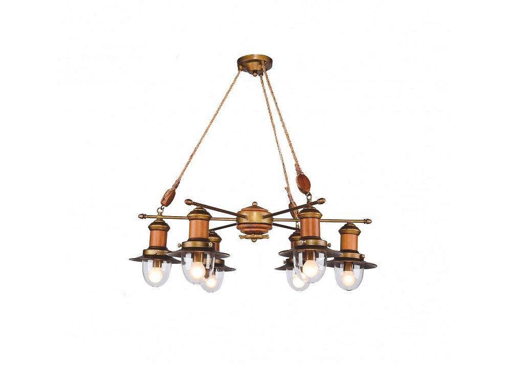 Подвесная люстра SoleЛюстры подвесные<br>&amp;lt;div&amp;gt;&amp;lt;div&amp;gt;Вид цоколя: E14&amp;lt;/div&amp;gt;&amp;lt;div&amp;gt;Мощность: 40W&amp;lt;/div&amp;gt;&amp;lt;div&amp;gt;Количество ламп: 6 (нет в комплекте)&amp;lt;/div&amp;gt;&amp;lt;/div&amp;gt;&amp;lt;div&amp;gt;&amp;lt;br&amp;gt;&amp;lt;/div&amp;gt;&amp;lt;div&amp;gt;Материал арматуры - дерево, метал,&amp;lt;/div&amp;gt;&amp;lt;div&amp;gt;&amp;amp;nbsp;Материал плафонов и подвесок - стекло&amp;lt;/div&amp;gt;<br><br>Material: Красное дерево<br>Высота см: 87