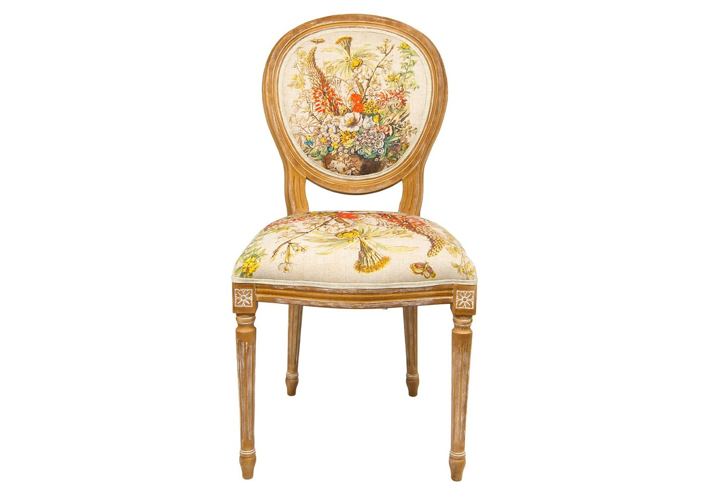 Стул «12 месяцев цветения» версия ДекабрьОбеденные стулья<br>Пышный цветочный декор опоясал обивку  стула «12 месяцев цветения», версия Декабрь,  идеально сочетаясь с дворцовым корпусом из эпохи французского классицизма. Букет декабря насчитывает 36 цветущих растений, среди которых бенгальская роза, герань, цикламен, примула, розмарин, алоэ, валериана, лютик, златоцвет.  Каркас стула изготовлен из натурального бука. Благородная фактура  дерева подчеркнута рукописной патиной. Цветочные гравюры полностью опоясывают обивку, включая оборотную сторону спинки. Ткань  оснащена тефлоновым покрытием против пятен.<br>&amp;lt;div&amp;gt;&amp;lt;br&amp;gt;&amp;lt;/div&amp;gt;&amp;lt;div&amp;gt;Материал: каркас - бук, обивка - 20% лен, 80% полиэстер&amp;lt;br&amp;gt;&amp;lt;/div&amp;gt;<br><br>Material: Бук<br>Width см: 62<br>Depth см: 50<br>Height см: 101