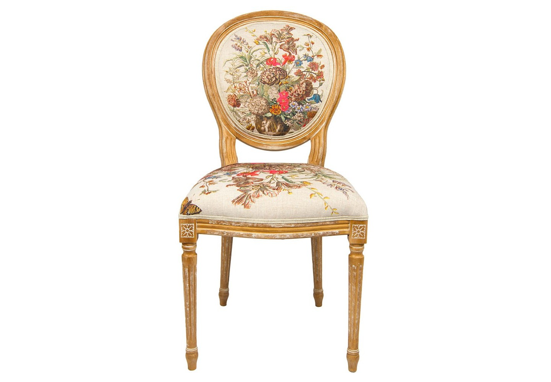 Стул «12 месяцев цветения» версия ИюльОбеденные стулья<br>В основе дизайна стула «12 месяцев цветения», версия Июль, лежат гравюры фламандского художника XVIII века Питера Кастельса. В букет июля вошли 32 цветущих растения, в том числе венгерская роза, лилия, настурция, каперс, люпин, валериана, жимолость, жасмин, олеандр, оливковое дерево, гранат.  Каркас стула изготовлен из натурального бука. Благородная фактура  дерева подчеркнута рукописной патиной. Цветочные гравюры полностью опоясывают обивку, включая оборотную сторону спинки. Ткань  оснащена тефлоновым покрытием против пятен.&amp;lt;div&amp;gt;&amp;lt;br&amp;gt;&amp;lt;/div&amp;gt;&amp;lt;div&amp;gt;Материал: каркас - бук, обивка - 20% лен, 80% полиэстер&amp;lt;br&amp;gt;&amp;lt;/div&amp;gt;<br><br>Material: Бук<br>Width см: 62<br>Depth см: 50<br>Height см: 101