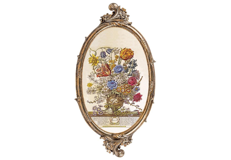 Репродукция «12 месяцев цветения» (Март)Картины<br>Античный  цвет рамы «12 месяцев цветения» (Март) эффектно акцентирует яркость пышного фламандского  натюрморта XVIII века, а цветочная репродукция идеально гармонирует с французским классицизмом оправы. Изображение напечатано на холсте, покрыто защитным матовым лаком. Классический бронзовый цвет рамы из полистоуна  - залог соседства с большинством предметов мебели и декора. Удобное крепление рамы позволит без труда разместить её на стене. &amp;lt;div&amp;gt;&amp;lt;br&amp;gt;&amp;lt;/div&amp;gt;&amp;lt;div&amp;gt;Материал: рама - полистоун; изображение – холст, матовый лак&amp;lt;br&amp;gt;&amp;lt;/div&amp;gt;&amp;lt;div&amp;gt;&amp;lt;br&amp;gt;&amp;lt;/div&amp;gt;<br><br>Material: Полистоун<br>Width см: 28.5<br>Depth см: 1.5<br>Height см: 54.5