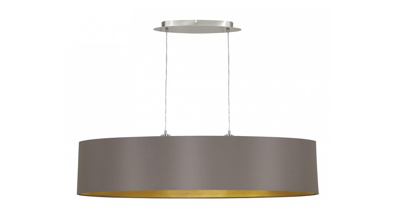 Подвесной светильник MaserloПодвесные светильники<br>&amp;lt;div&amp;gt;&amp;lt;div&amp;gt;Вид цоколя: E27&amp;lt;/div&amp;gt;&amp;lt;div&amp;gt;Мощность: 60W&amp;lt;/div&amp;gt;&amp;lt;div&amp;gt;Количество ламп: 2 (нет в комплекте)&amp;lt;/div&amp;gt;&amp;lt;/div&amp;gt;&amp;lt;div&amp;gt;&amp;lt;br&amp;gt;&amp;lt;/div&amp;gt;&amp;lt;div&amp;gt;Материал арматуры - металл&amp;lt;/div&amp;gt;&amp;lt;div&amp;gt;Материал плафонов и подвесок - текстиль&amp;lt;/div&amp;gt;<br><br>Material: Металл<br>Ширина см: 100<br>Высота см: 110<br>Глубина см: 25