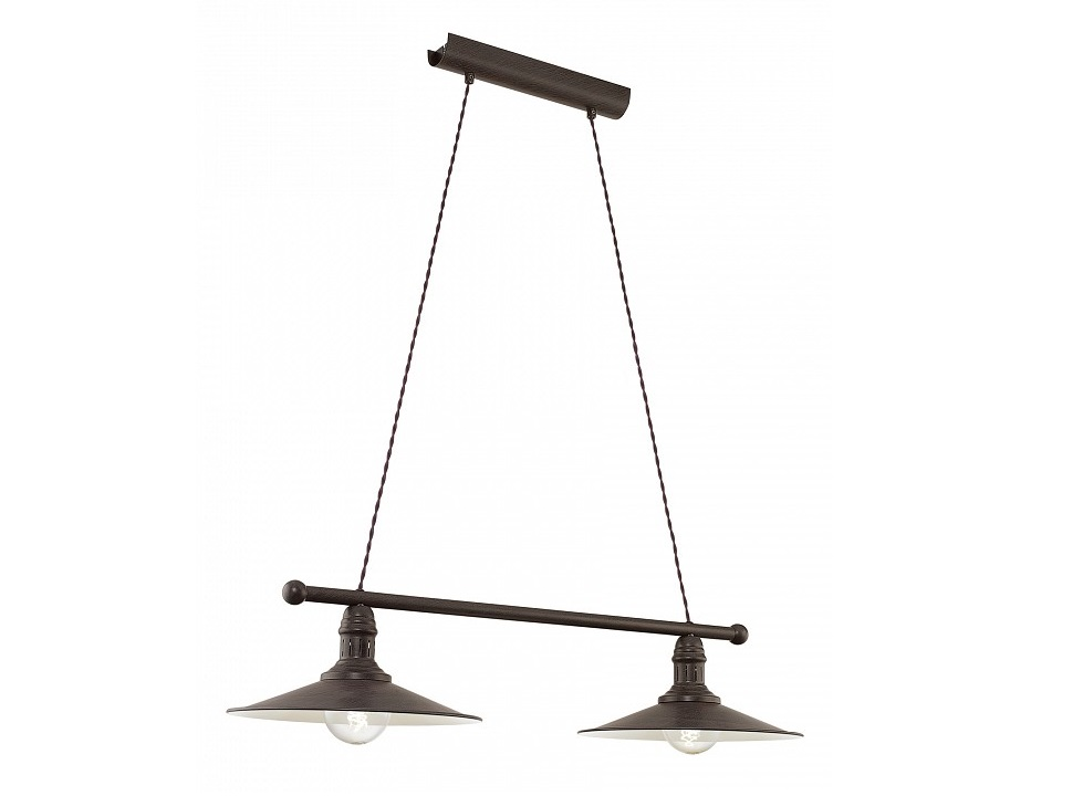 Подвесной светильник StockburyПодвесные светильники<br>&amp;lt;div&amp;gt;Вид цоколя: E27&amp;lt;/div&amp;gt;&amp;lt;div&amp;gt;Мощность: 60W&amp;lt;/div&amp;gt;&amp;lt;div&amp;gt;Количество ламп: 2 (нет в комплекте)&amp;lt;/div&amp;gt;<br><br>Material: Металл<br>Ширина см: 80<br>Высота см: 110<br>Глубина см: 30