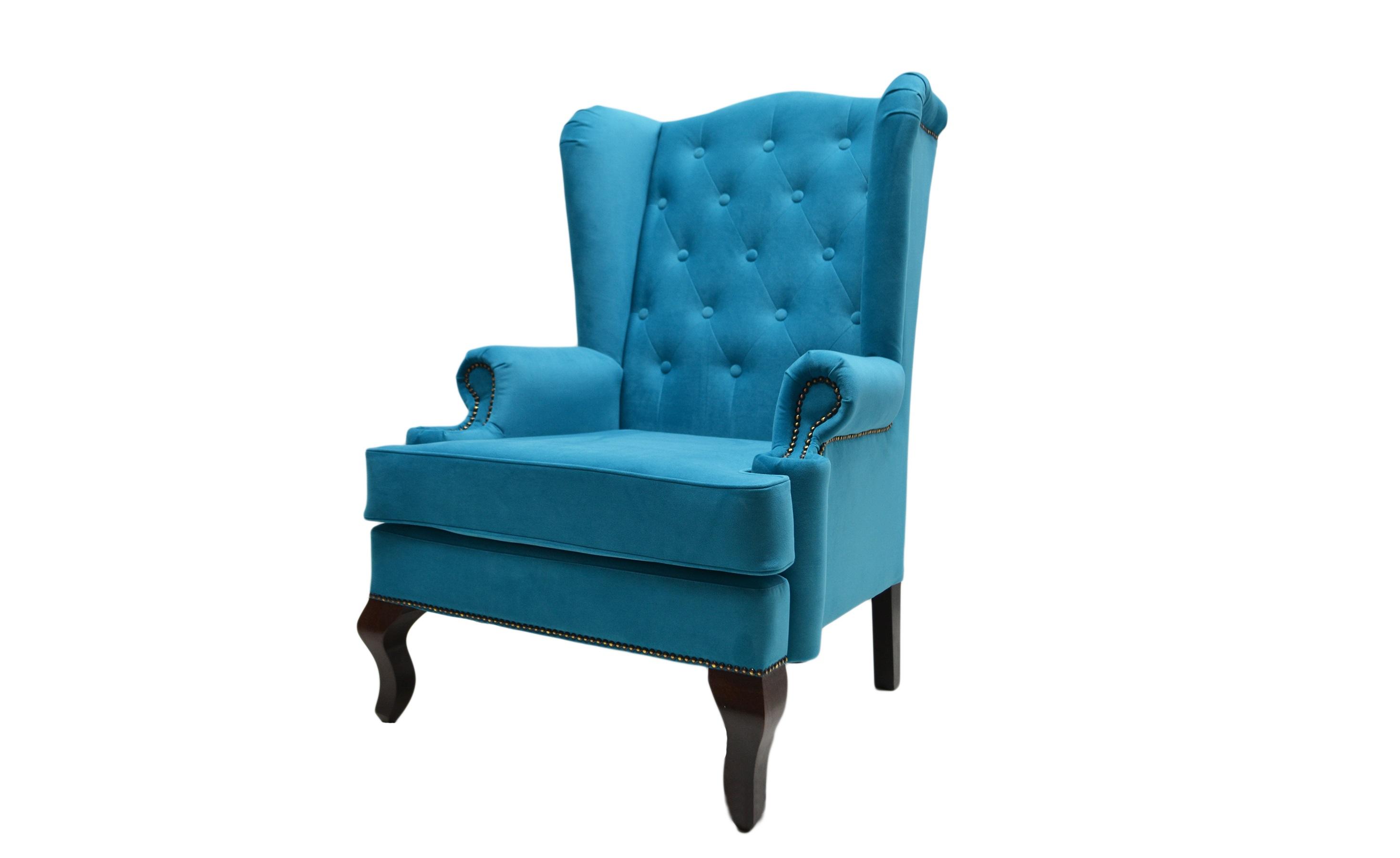 Каминное кресло с ушамиКресла с высокой спинкой<br>Каминное кресло – мягкий предмет мебели повышенной комфортности с высокой спинкой, оно рассчитано на отдых возле домашнего очага. Его конструкция, как и много лет назад, почти не изменилась.<br>Каминное кресло с ушами (выступами на уровне головы), имеет каркас из дерева, гнутые ножки и мягкие подлокотники. Впервые такую модель сделали в Англии в XVII веке. Пожилых людей своеобразные крылья уберегали от сквозняков, в гостиной они предохраняли от залетания искр из камина. Отсюда появилось название такой модели – каминное кресло в английском стиле. Еще оно именуется на родине «крылатым», «дедушкиным».<br><br>Material: Велюр<br>Length см: None<br>Width см: 73<br>Depth см: 70<br>Height см: 110