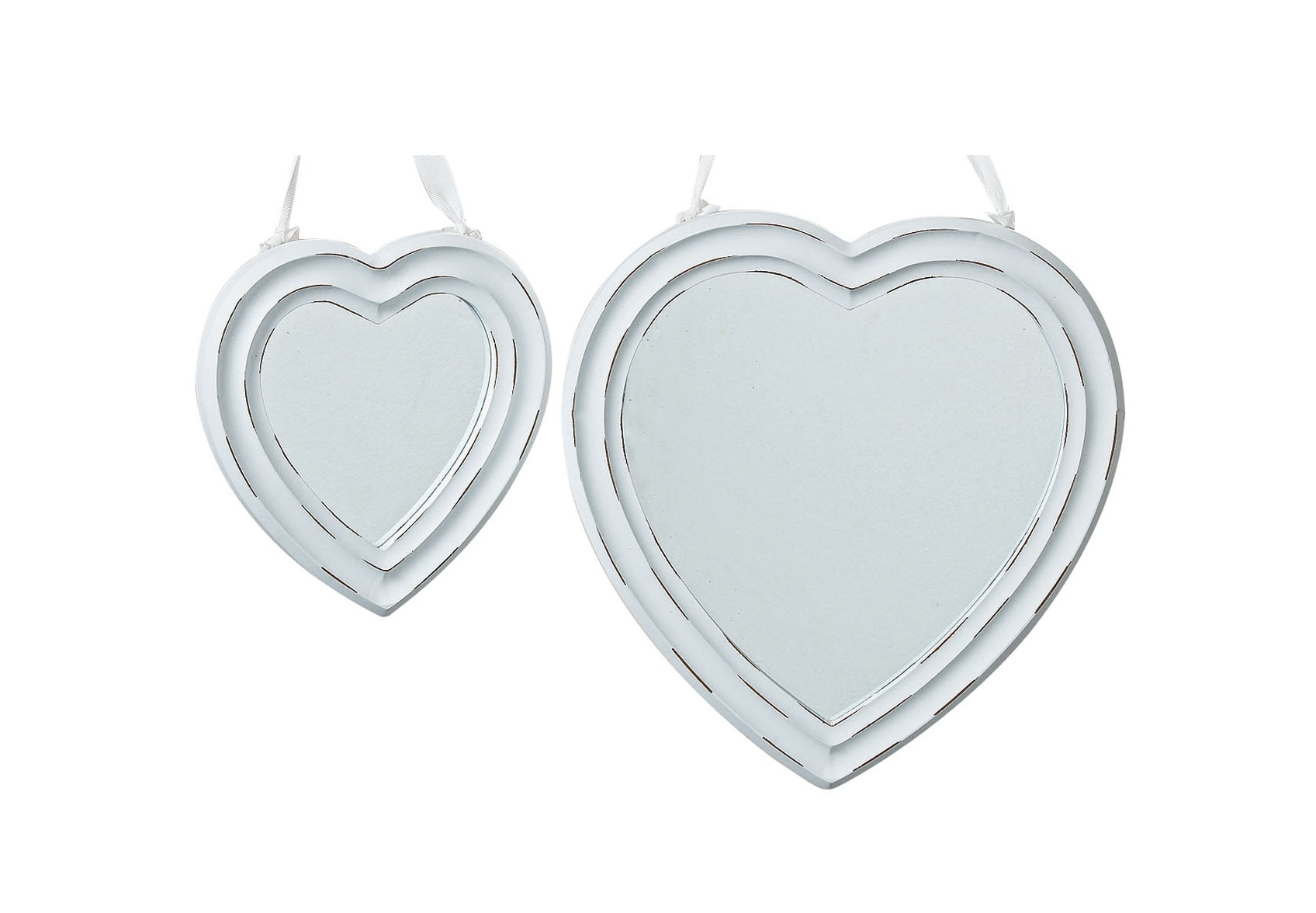 Набор зеркал Heart (2шт)Настенные зеркала<br>&amp;lt;div&amp;gt;Размеры:&amp;lt;/div&amp;gt;&amp;lt;div&amp;gt;- большое зеркало : 35x34см;&amp;lt;/div&amp;gt;&amp;lt;div&amp;gt;- маленькое зеркало: 23х22см;&amp;lt;/div&amp;gt;<br><br>Material: МДФ<br>Length см: None<br>Width см: 34<br>Depth см: None<br>Height см: 35