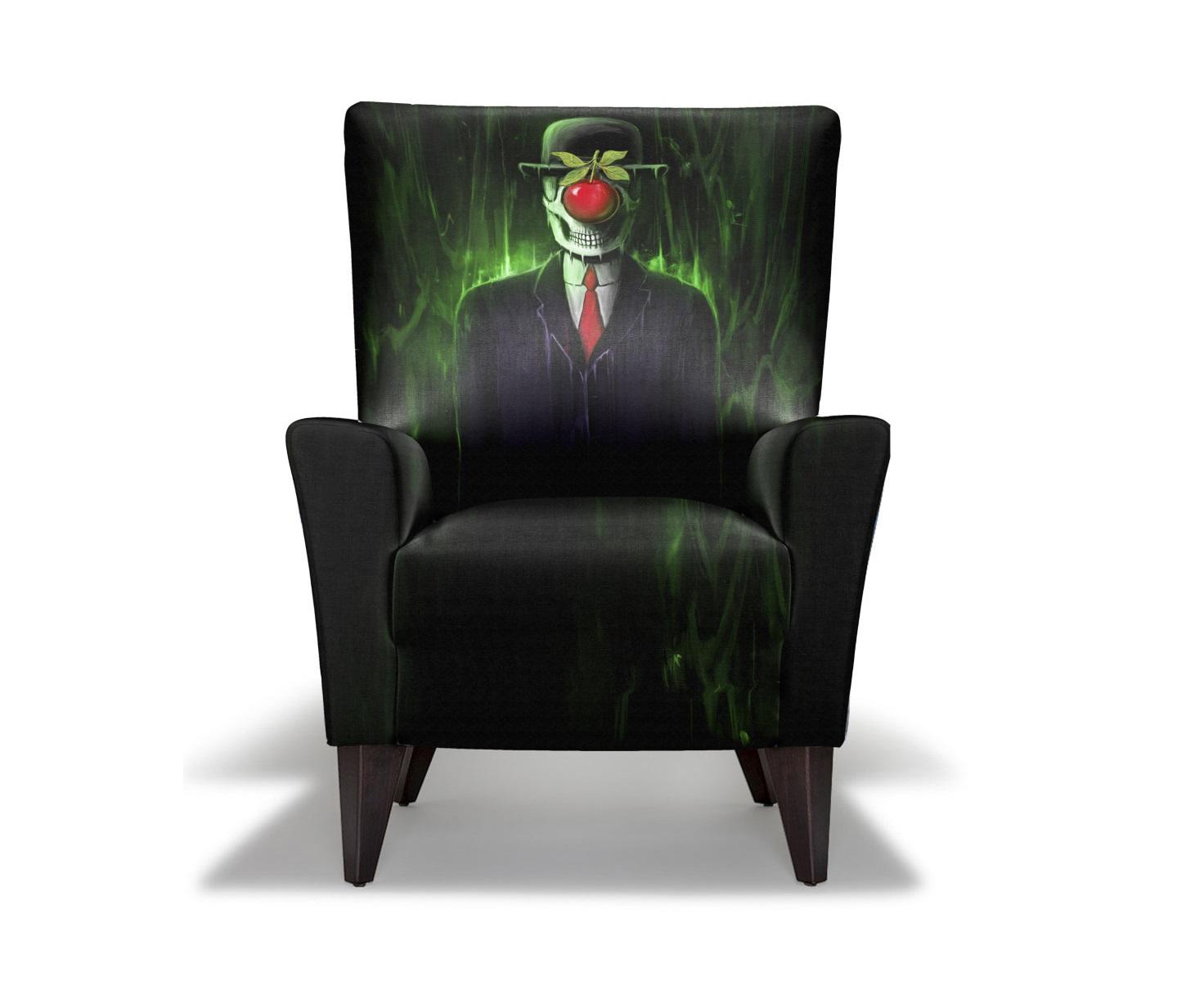Кресло The Son Of A ManКресла с высокой спинкой<br>Уникальный дизайн. Кресло с принтом братьев Фрэнсиса и Лоуренса Миноза, художники, из Филиппин. Они начали свой путь в 2008 и никогда не прекращали творить с тех пор. Большое разнообразие иллюстраций и визуальных образов их работ, выражены через изображение темного, мрачного сюрреализма. Произвдено из экологически чистых материалов. Каркас и ножки  - дуб. Модель представлена в ткани микровелюр – мягкий, бархатистый материал, широко используемый в качестве обивки для мебели. Обладает целым рядом замечательных свойств: отлично пропускает воздух, отталкивает пыль и долго сохраняет изначальный цвет, не протираясь и не выцветая. Высокие эксплуатационные свойства в сочетании с превосходным дизайном обеспечили микровелюру большую популярность.<br><br>Варианты исполнения: <br>По желанию возможность выбрать ткань из других коллекций. &amp;amp;nbsp;Материалы: дуб, текстиль.<br><br>Продукция изготавливается под заказ, стандартный срок производства 3-4 недели.&amp;amp;nbsp;<br><br>Material: Текстиль<br>Length см: None<br>Width см: 80<br>Depth см: 78<br>Height см: 110