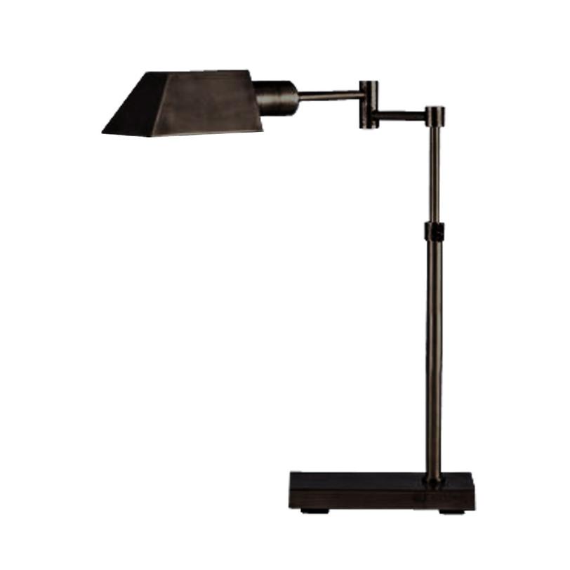 Настольная лампаНастольные лампы<br>Настольная лампа будет органично смотреться на письменном столе дома или в офисе. Строгая, с богатым функционалом, она подойдет ценителям практичности и аккуратности.<br><br>Material: Металл<br>Ширина см: 43<br>Высота см: 60<br>Глубина см: 13