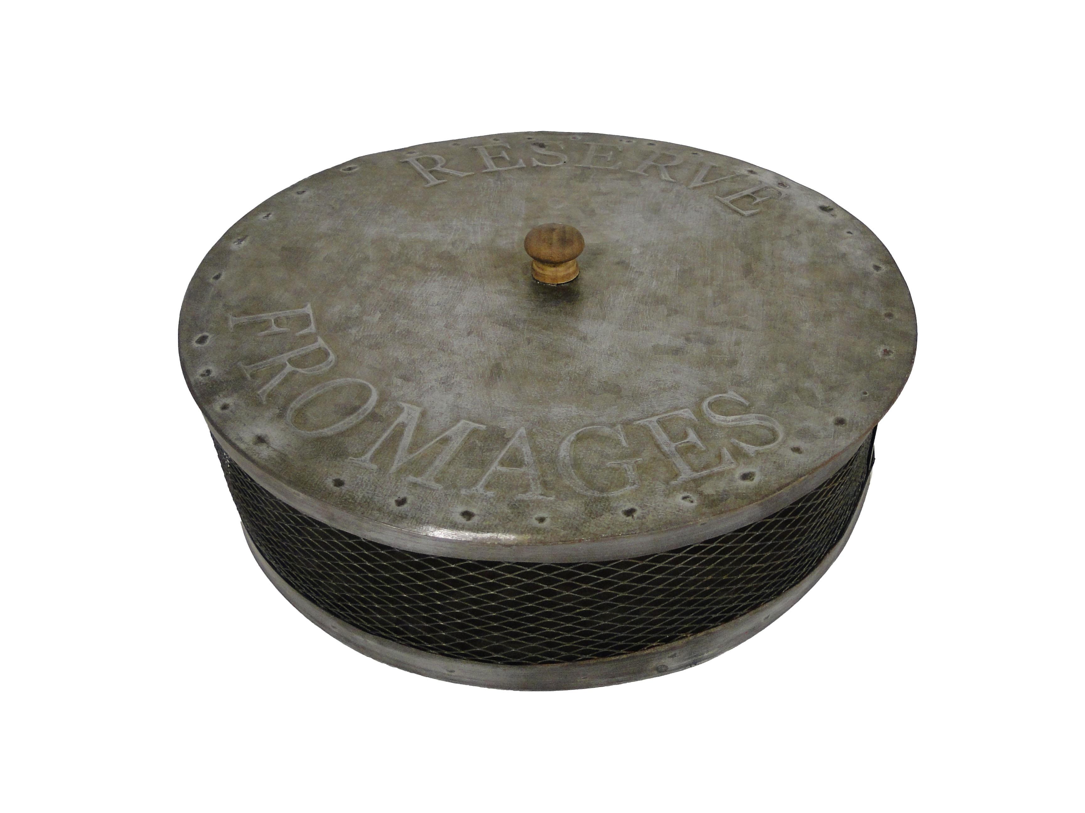 Контейнер для сыраАксессуары для кухни<br>Материал: Листовой оцинкованный металл<br><br>Material: Металл<br>Length см: None<br>Width см: None<br>Depth см: None<br>Height см: 9.9<br>Diameter см: 34.1