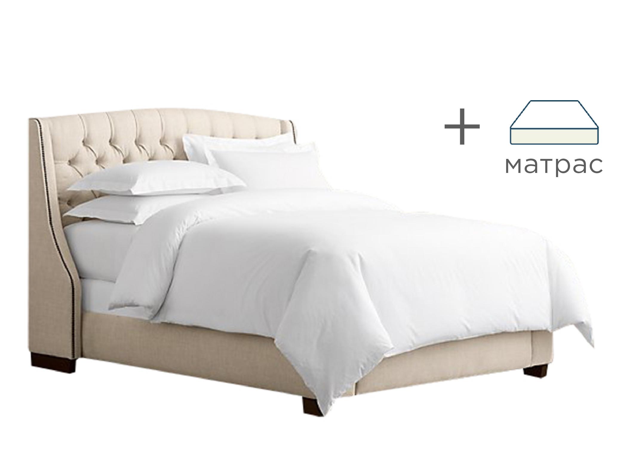 Кровать Hugo c матрасомКровати + матрасы<br>&amp;lt;b&amp;gt;Выгодная скидка при покупке комплекта!&amp;lt;/b&amp;gt;&amp;lt;br&amp;gt;Кровать в классическом американском стиле вместе с ортопедическим матрасом&amp;amp;nbsp;&amp;quot;Askona Terapia Orient&amp;quot;&amp;lt;br&amp;gt;&amp;lt;br&amp;gt;&amp;lt;b&amp;gt;Характеристики кровати:&amp;lt;/b&amp;gt;&amp;lt;br&amp;gt;Размер спального места: 160*200&amp;lt;br&amp;gt;Материалы: бук, текстиль&amp;lt;br&amp;gt;Варианты исполнения: более 200 цветов&amp;lt;br&amp;gt;&amp;lt;br&amp;gt;&amp;lt;b&amp;gt;Характеристики матраса:&amp;lt;/b&amp;gt;&amp;lt;br&amp;gt;&amp;lt;div&amp;gt;Комфортный трикотаж с антибактериальной пропиткой с ионами Ag+.&amp;lt;/div&amp;gt;&amp;lt;div&amp;gt;Латекс.&amp;lt;/div&amp;gt;&amp;lt;div&amp;gt;Кокосовая плита.&amp;lt;/div&amp;gt;&amp;lt;div&amp;gt;5-ти зональный блок независимых пружин «Песочные часы Extra».&amp;lt;/div&amp;gt;&amp;lt;div&amp;gt;Короб по периметру из пены Orto Foam.&amp;lt;/div&amp;gt;<br><br>Material: Текстиль<br>Ширина см: 225<br>Высота см: 132<br>Глубина см: 182