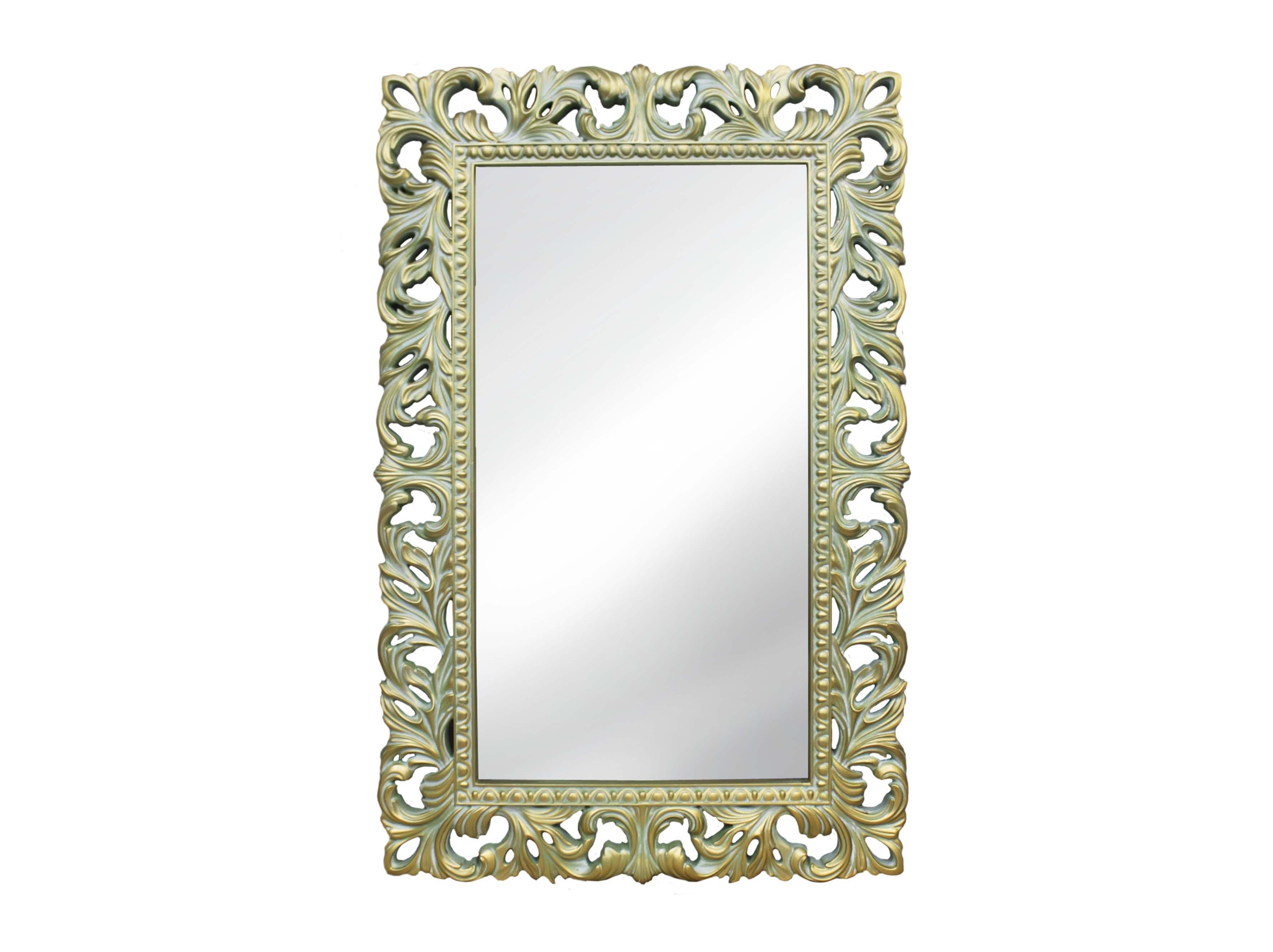 Зеркало итальянское в винтажной рамеНастенные зеркала<br>Резная рама для этого винтажного зеркала окрашена в нежный оттенок оливы и искусственно состарена покрытием из благородной патины. Этот изящный предмет интерьера будет особенно хорош в комнате, обставленной в стиле Прованс или неоклассика. В качестве материала для обрамления использован мебельный пенополиуретан. Он отлично подходит для таких сложных декоров: тверд, не боится влаги, долговечен, хорошо окрашивается.&amp;lt;div&amp;gt;&amp;lt;span style=&amp;quot;line-height: 37.5374px;&amp;quot;&amp;gt;Цвет: Олива Золото Патина&amp;lt;/span&amp;gt;&amp;lt;br&amp;gt;&amp;lt;/div&amp;gt;<br><br>Material: Полиуретан<br>Ширина см: 75<br>Высота см: 115<br>Глубина см: 4