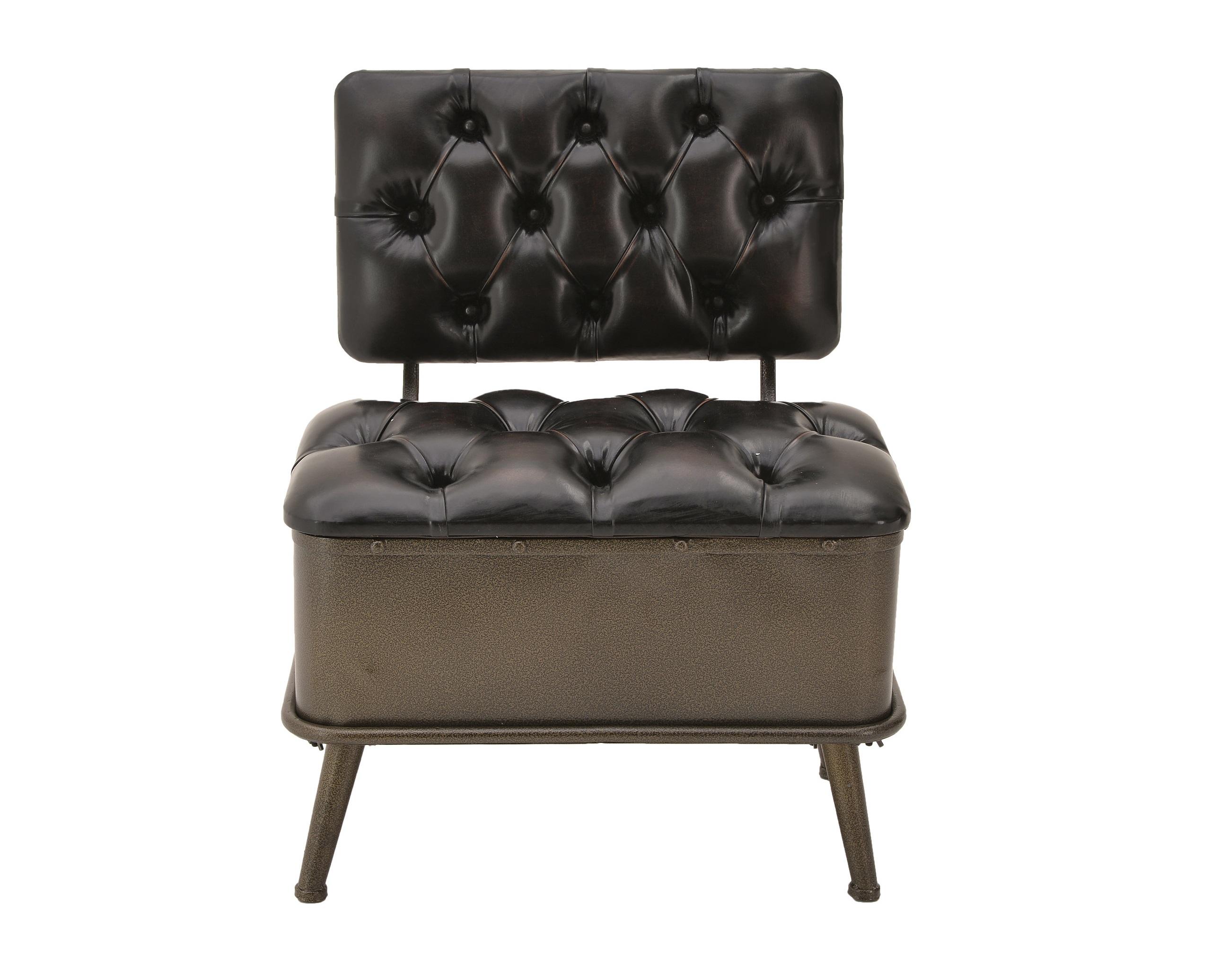 Кресло-сундук BrodoКожаные кресла<br><br><br>Material: Кожа<br>Ширина см: 60<br>Высота см: 75<br>Глубина см: 45