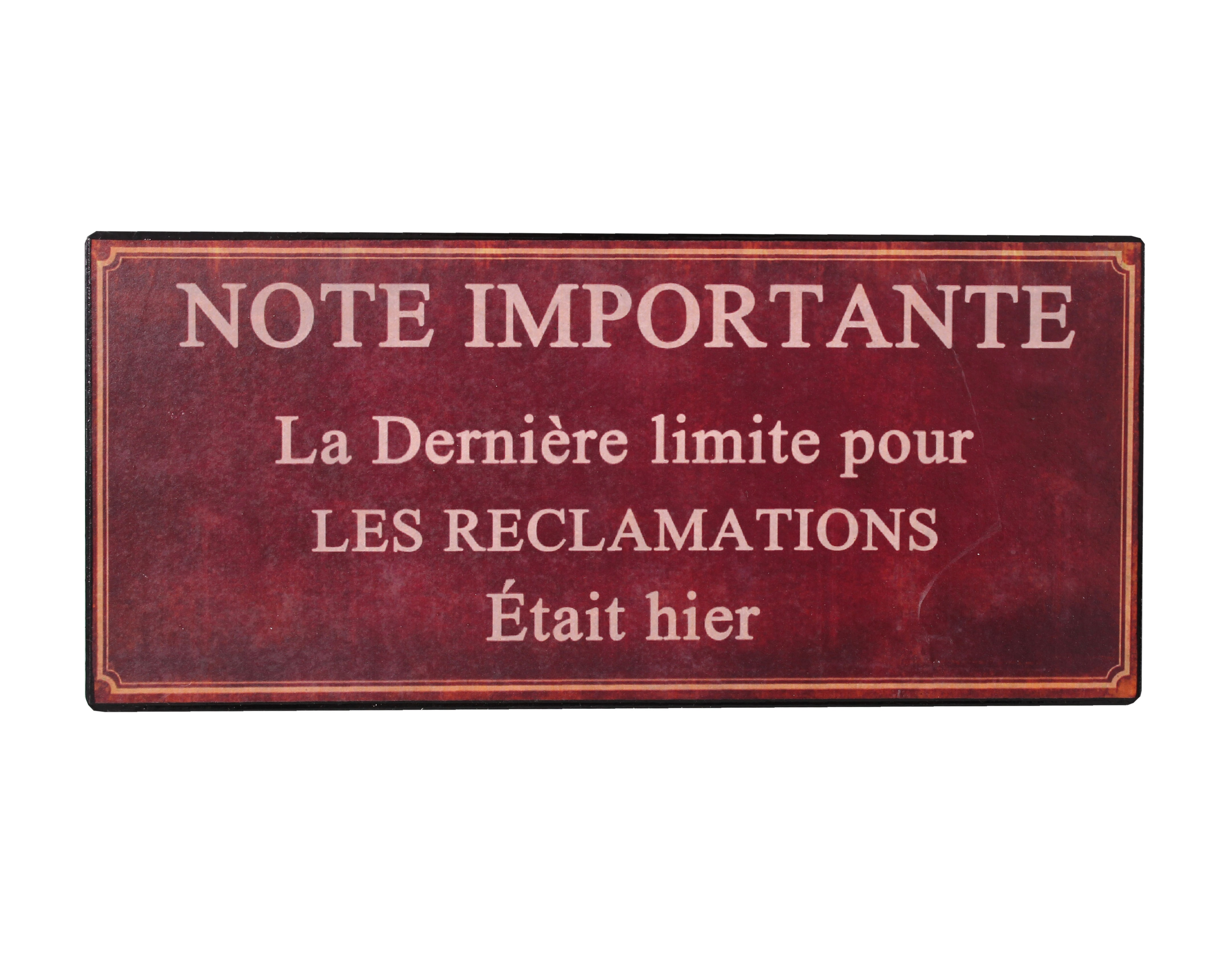 Декоративная табличка Note ImportanteДругое<br>Материал: Железо, бумага<br><br>Material: Железо<br>Length см: None<br>Width см: 22<br>Depth см: 0.33<br>Height см: 9.9