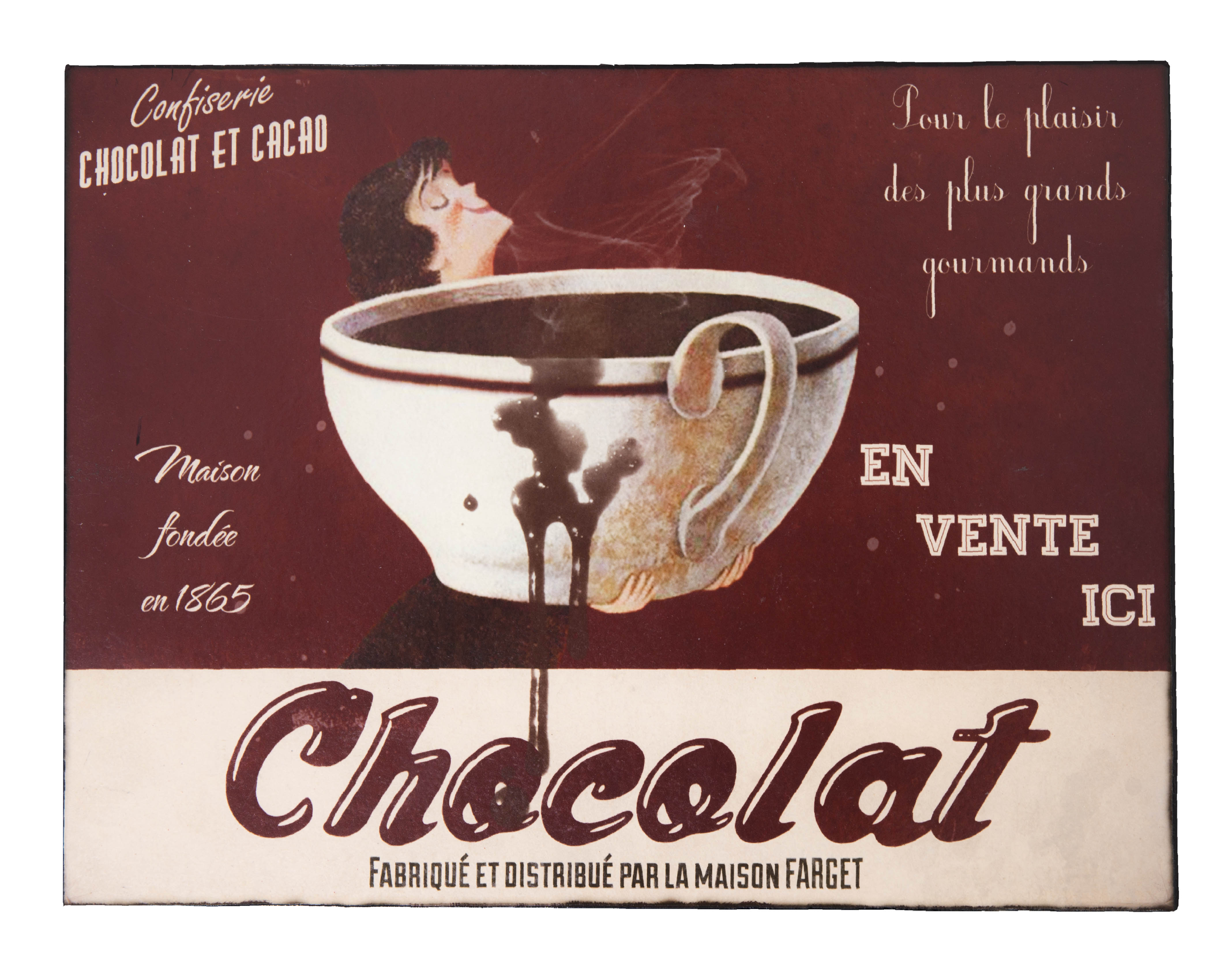 Декоративная табличка ChocolatДругое<br>Материал: Железо, бумага<br><br>Material: Железо<br>Length см: None<br>Width см: 36.3<br>Depth см: 1.32<br>Height см: 27.5
