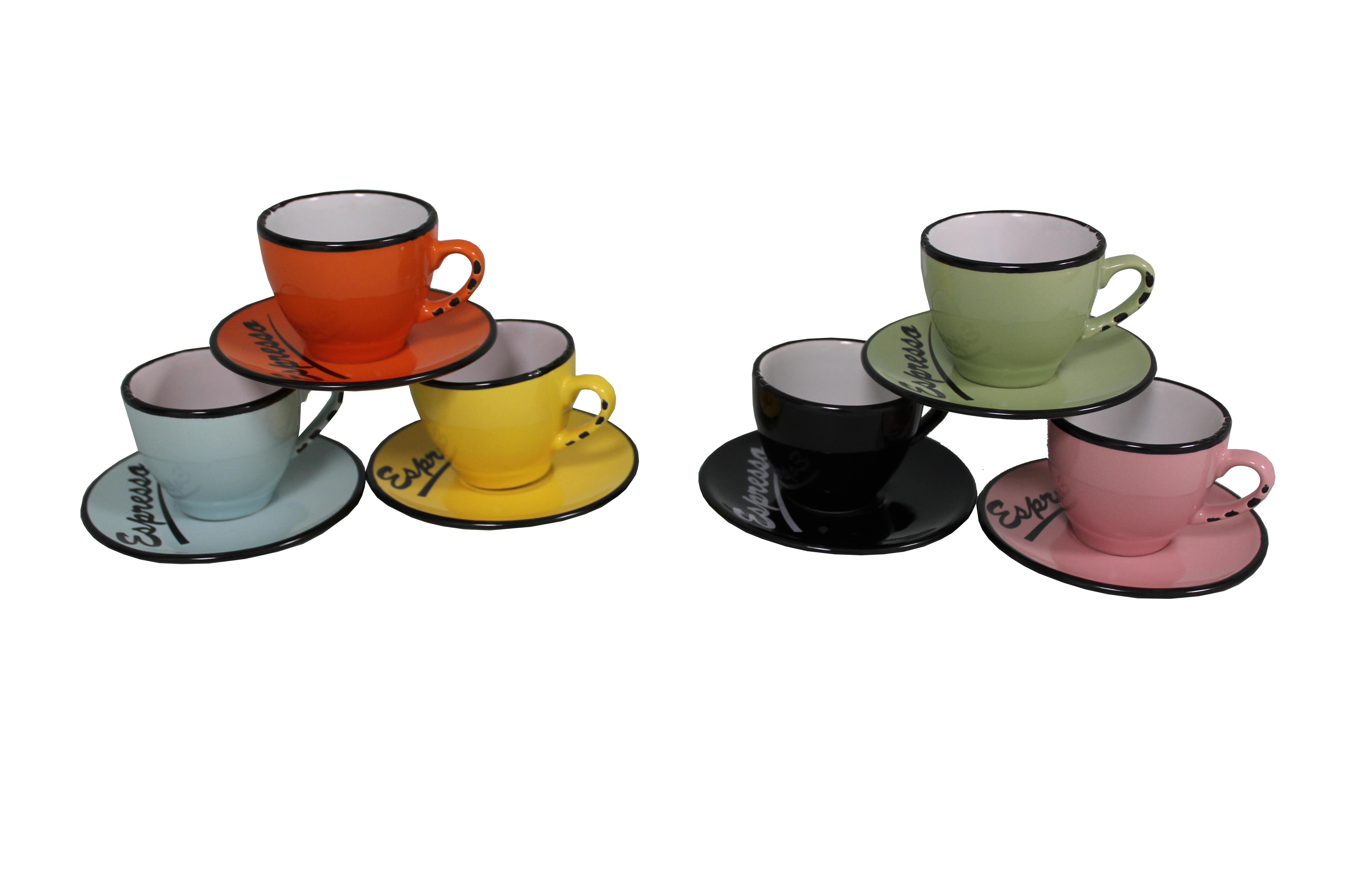 Набор кофейных чашечек (6 шт)Чайные пары и чашки<br>Набор из 6-и кофейных чашечек. Можно использовать в микроволновой печи и посудомоечной машине.&amp;amp;nbsp;&amp;lt;div&amp;gt;Материал: Керамогранит&amp;lt;/div&amp;gt;&amp;lt;div&amp;gt;&amp;lt;br&amp;gt;&amp;lt;/div&amp;gt;&amp;lt;div&amp;gt;Чашечка: высота 4,5, диаметр 6;&amp;amp;nbsp;&amp;lt;/div&amp;gt;&amp;lt;div&amp;gt;Блюдце: диаметр 10.&amp;lt;br&amp;gt;&amp;lt;/div&amp;gt;<br><br>Material: Керамика<br>Length см: None<br>Width см: 25<br>Depth см: 22<br>Height см: 11