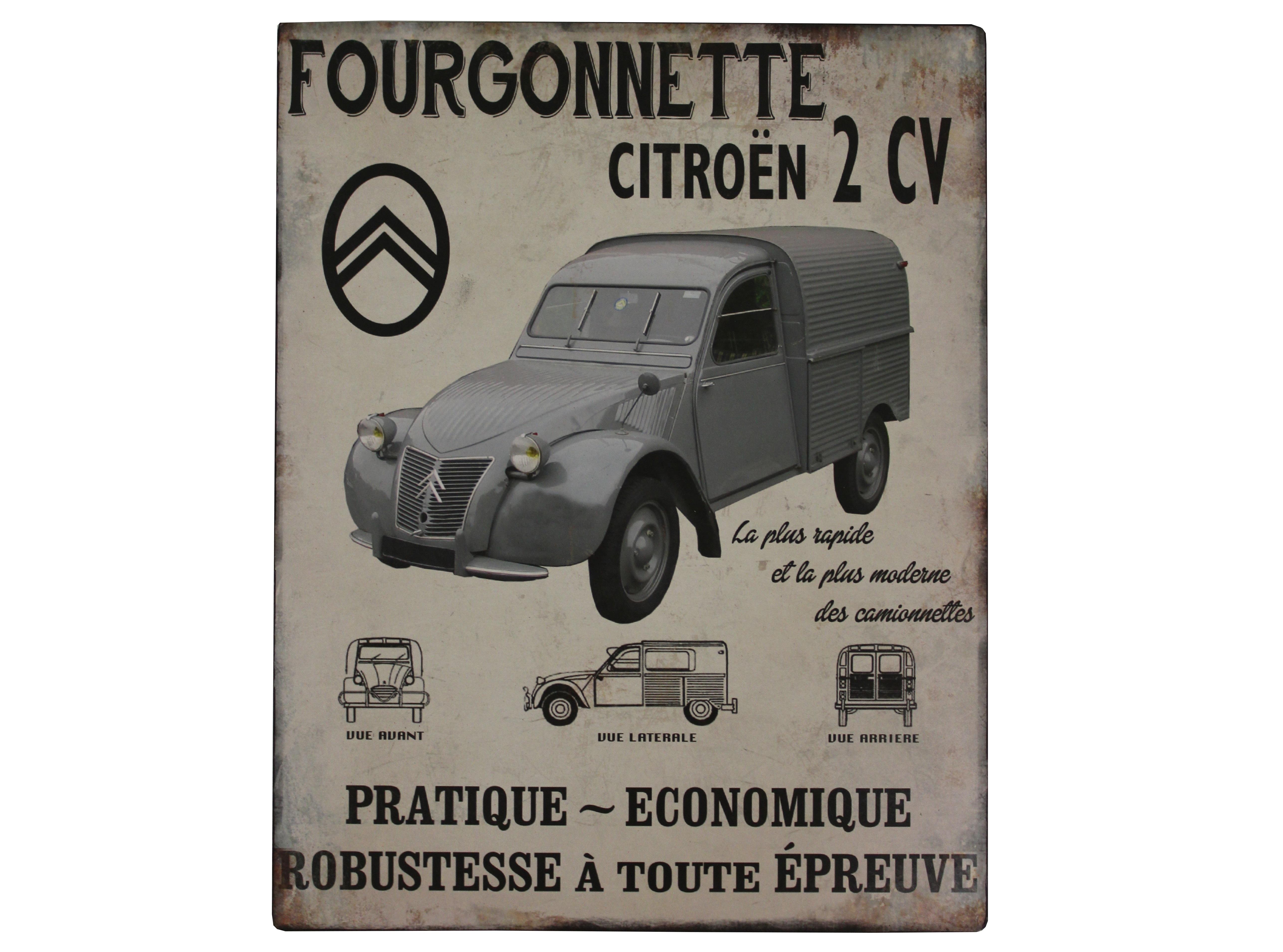 Табличка FourgonnetteДругое<br>Материал: Железо, Бумага<br><br>Material: Железо<br>Length см: None<br>Width см: 24.2<br>Depth см: 3<br>Height см: 30.8