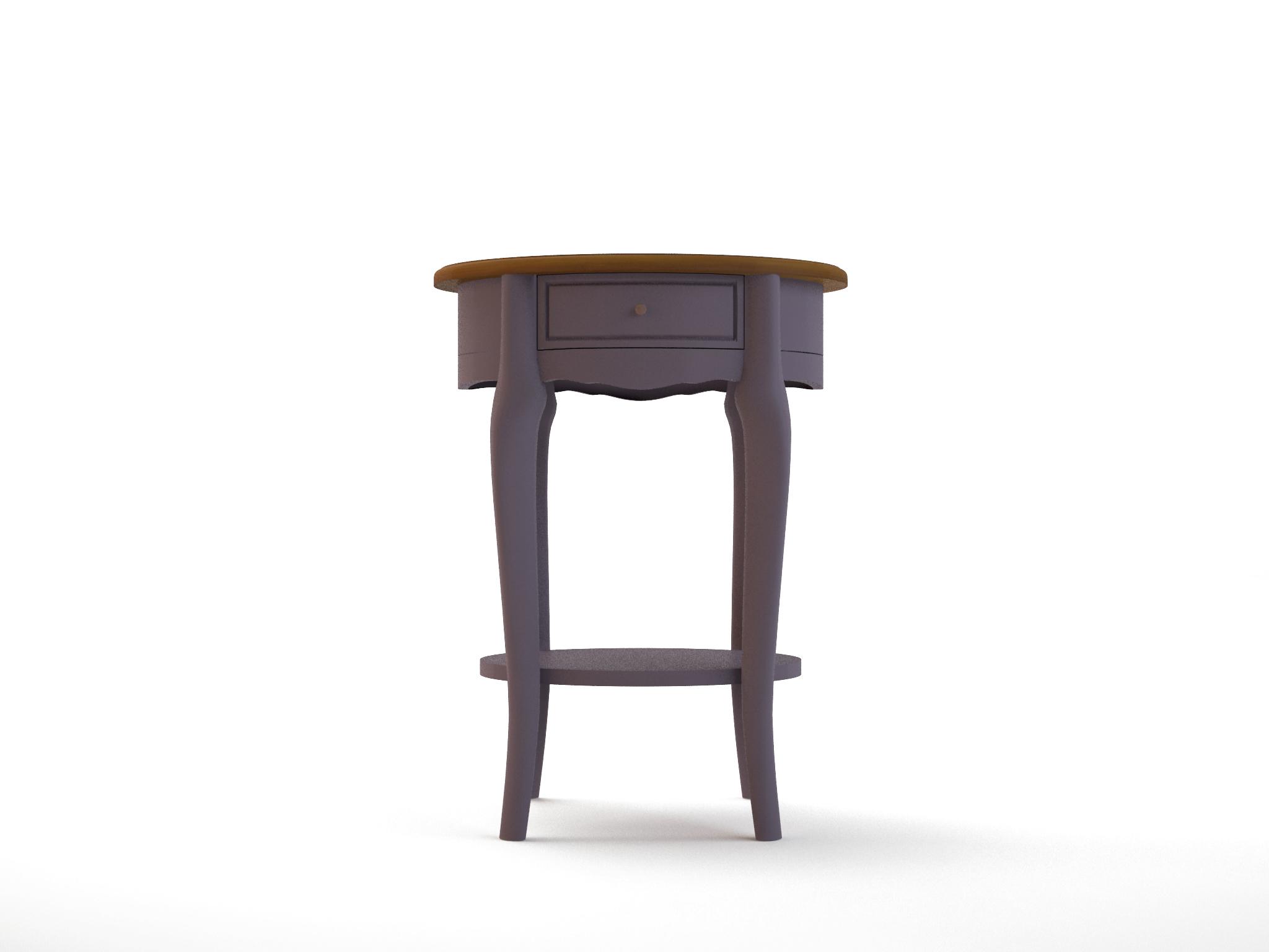 Овальный столик Leontina lavandaПриставные столики<br>Материал: Массив березы,Массив ясеня<br><br>Material: Дерево<br>Ширина см: 55<br>Высота см: 72<br>Глубина см: 43