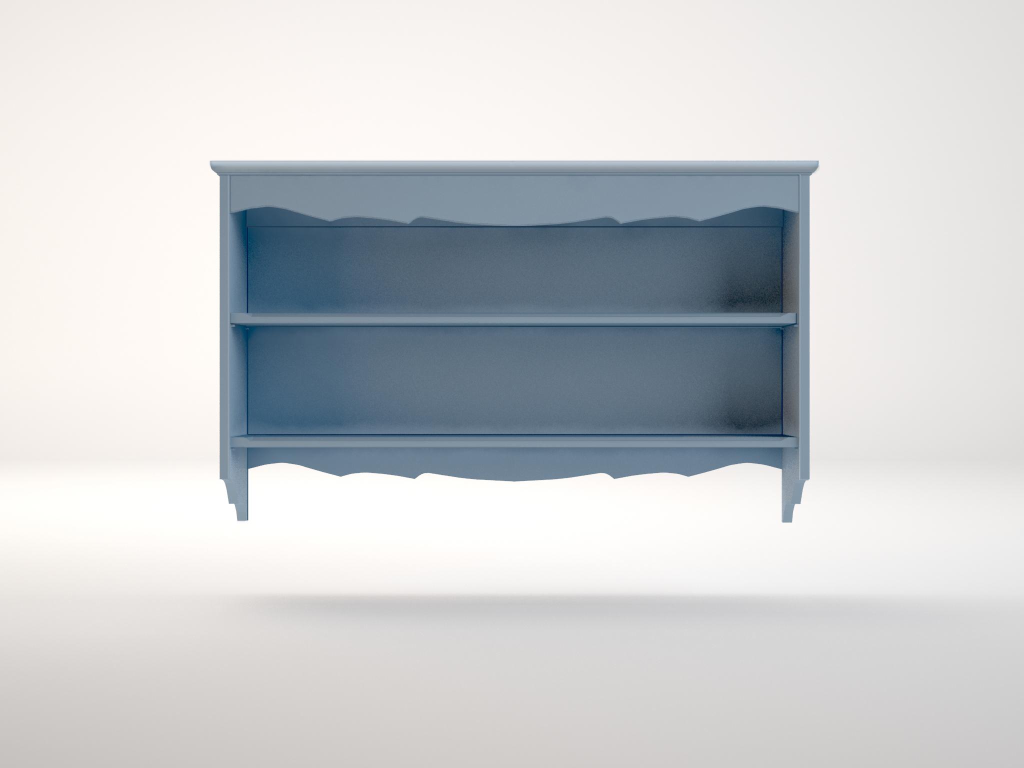 Полка голубая LeontinaПолки<br><br><br>Material: Береза<br>Ширина см: 123<br>Высота см: 75<br>Глубина см: 23
