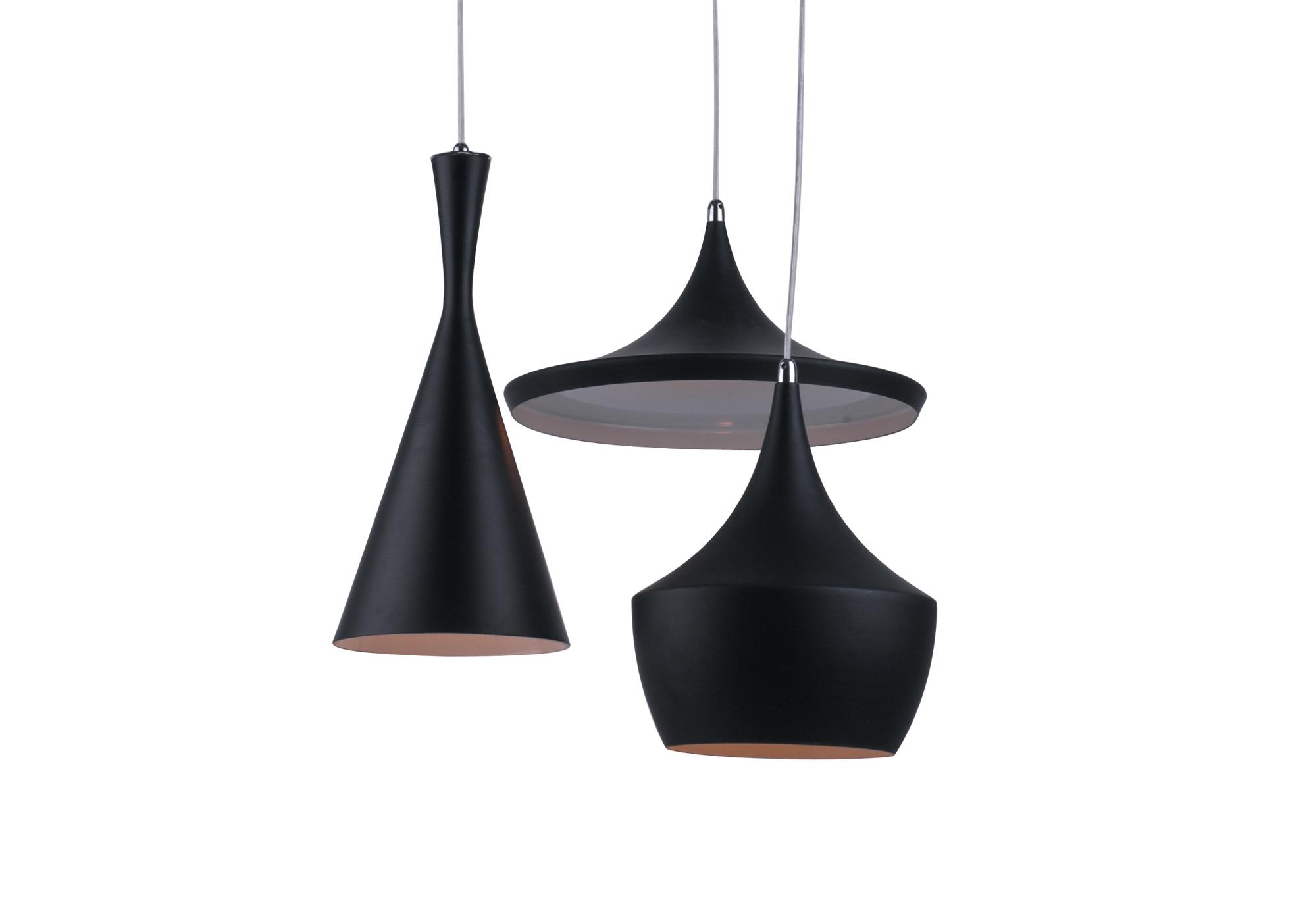 Светильник Ballina BlackПодвесные светильники<br>Изысканный и лаконичный светильник, на одном основании которого находятся три разноуровневых плафона разной формы. Этот светильник дает яркое, направленное освещение. Его удачно можно расположить над столом, либо он послужит отличным вариантом зонирования помещения.&amp;amp;nbsp;&amp;lt;div&amp;gt;&amp;lt;br&amp;gt;&amp;lt;/div&amp;gt;&amp;lt;div&amp;gt;&amp;lt;div&amp;gt;Вид цоколя: E27&amp;lt;/div&amp;gt;&amp;lt;div&amp;gt;Мощность: &amp;amp;nbsp;40W&amp;amp;nbsp;&amp;lt;/div&amp;gt;&amp;lt;div&amp;gt;Количество ламп: 3&amp;lt;/div&amp;gt;&amp;lt;/div&amp;gt;<br><br>Material: Металл<br>Height см: 111<br>Diameter см: 60