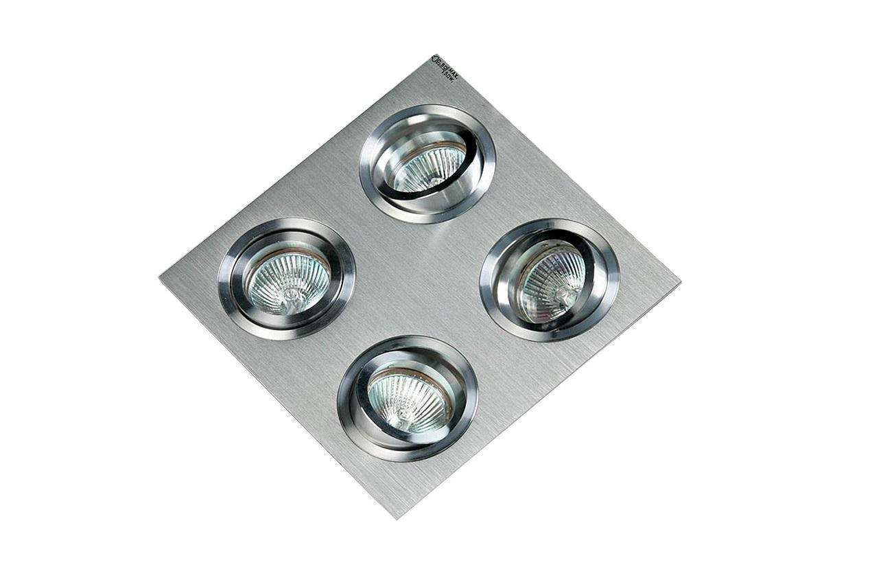 Встраиваемый светильник  LUXORТочечный свет<br>&amp;lt;div&amp;gt;Встраиваемый светильник LUXOR выполнен в форме квадратной пластины с четырьмя поворотными светильниками. Основание из матового алюминия, детали светильников хромированные.&amp;amp;nbsp;&amp;lt;/div&amp;gt;&amp;lt;div&amp;gt;&amp;lt;br&amp;gt;&amp;lt;/div&amp;gt;&amp;lt;div&amp;gt;Вид цоколя: GU5.3&amp;lt;/div&amp;gt;&amp;lt;div&amp;gt;Мощность: 50W&amp;lt;/div&amp;gt;&amp;lt;div&amp;gt;Количество ламп: 4 (нет в комплекте)&amp;lt;/div&amp;gt;&amp;lt;div&amp;gt;Для данной модели необходим трансформатор (в комплект не входит).&amp;lt;/div&amp;gt;<br><br>Material: Металл<br>Ширина см: 19<br>Высота см: 6<br>Глубина см: 19