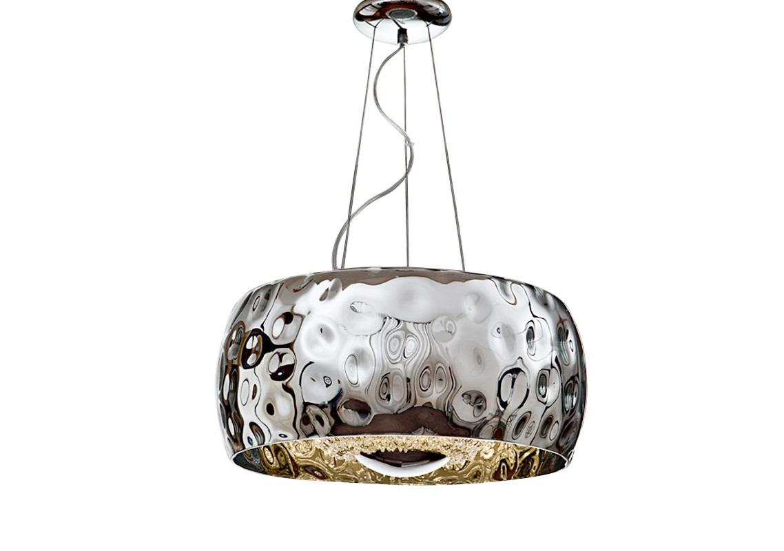 Подвесной светильник FluvioПодвесные светильники<br>&amp;lt;div&amp;gt;Подвесной светильник из коллекции Fluvio с креплением из металла с покрытием &amp;quot;хром&amp;quot;.&amp;amp;nbsp;&amp;lt;/div&amp;gt;&amp;lt;div&amp;gt;Плафон выполнен из зеркального стекла цвета хром с фактурной поверхностью.&amp;amp;nbsp;&amp;lt;/div&amp;gt;&amp;lt;div&amp;gt;Внутренняя сфера образована нитями бус из гранёного стекла.&amp;amp;nbsp;&amp;lt;/div&amp;gt;&amp;lt;div&amp;gt;Высота светильника регулируется до 140 см.&amp;lt;/div&amp;gt;&amp;lt;div&amp;gt;&amp;lt;br&amp;gt;&amp;lt;/div&amp;gt;&amp;lt;div&amp;gt;Вид цоколя: G9&amp;lt;/div&amp;gt;&amp;lt;div&amp;gt;Мощность: 6W&amp;lt;/div&amp;gt;&amp;lt;div&amp;gt;Количество ламп: 6 (нет в комплекте)&amp;lt;/div&amp;gt;<br><br>Material: Металл<br>Height см: 25<br>Diameter см: 50