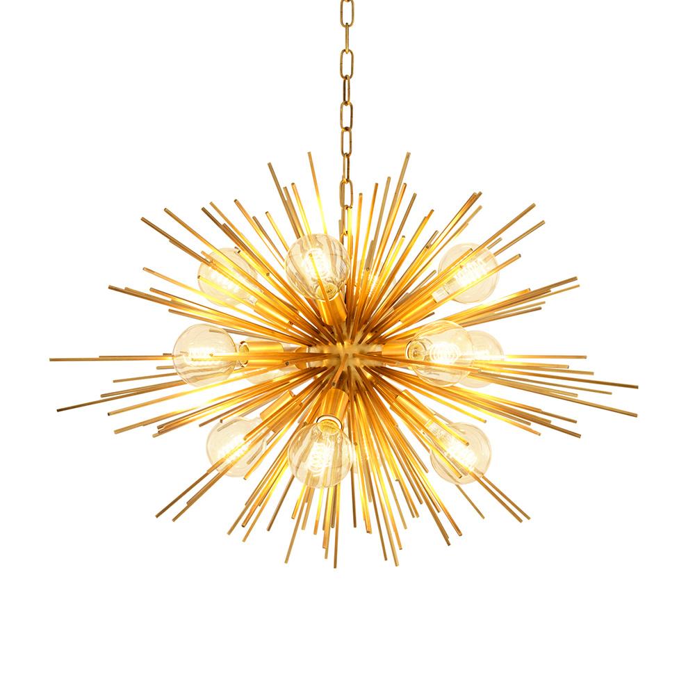 Подвесной светильник Chandelier BoivinПодвесные светильники<br>&amp;lt;div&amp;gt;Подвесной светильник Chandelier Boivin с оригинальным дизайном в виде &amp;quot;одуванчика&amp;quot; выполнен из металла цвета латунь. Высота светильника регулируется за счет звеньев цепи.&amp;amp;nbsp;&amp;lt;/div&amp;gt;&amp;lt;div&amp;gt;&amp;lt;br&amp;gt;&amp;lt;/div&amp;gt;&amp;lt;div&amp;gt;Вид цоколя: E27&amp;lt;/div&amp;gt;&amp;lt;div&amp;gt;Мощность: 60W&amp;lt;/div&amp;gt;&amp;lt;div&amp;gt;Количество ламп: 12 (нет в комплекте)&amp;lt;/div&amp;gt;<br><br>Material: Металл