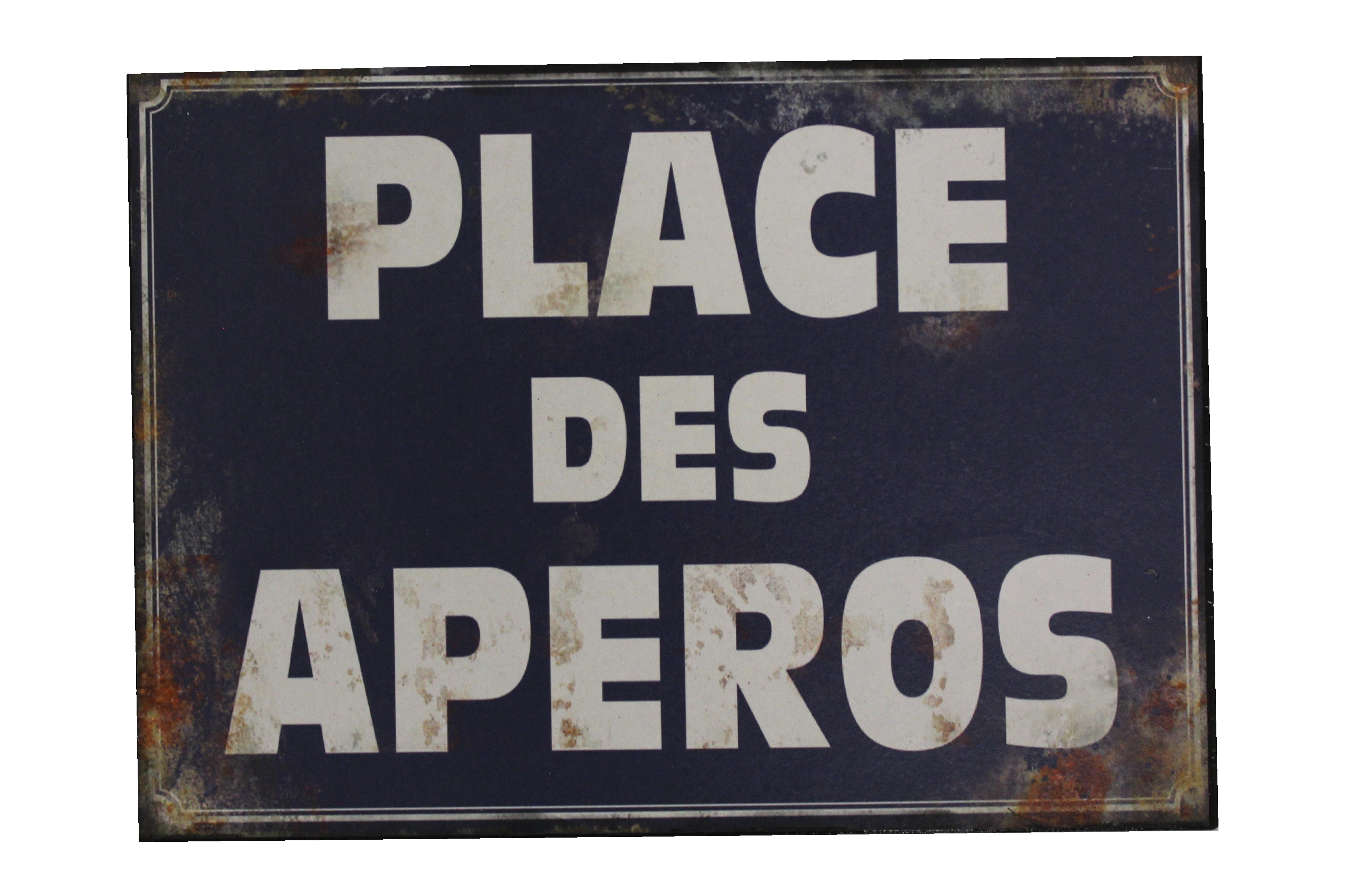 Табличка Place des Ap?rosДругое<br><br><br>Material: Металл<br>Length см: None<br>Width см: 23.1<br>Depth см: 2<br>Height см: 16.5