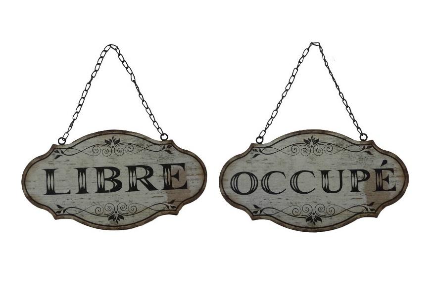 Табличка Libre-OccupeДругое<br><br><br>Material: Металл<br>Length см: None<br>Width см: 33<br>Depth см: 34.1<br>Height см: 17.6