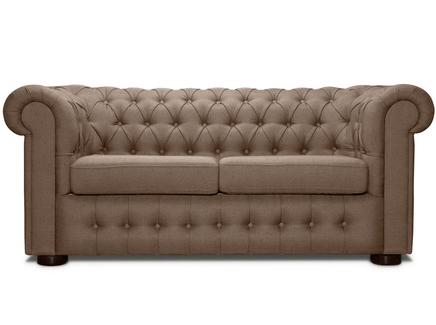 Раскладной диван бергамо (modern classic) коричневый 194x82x91 см.