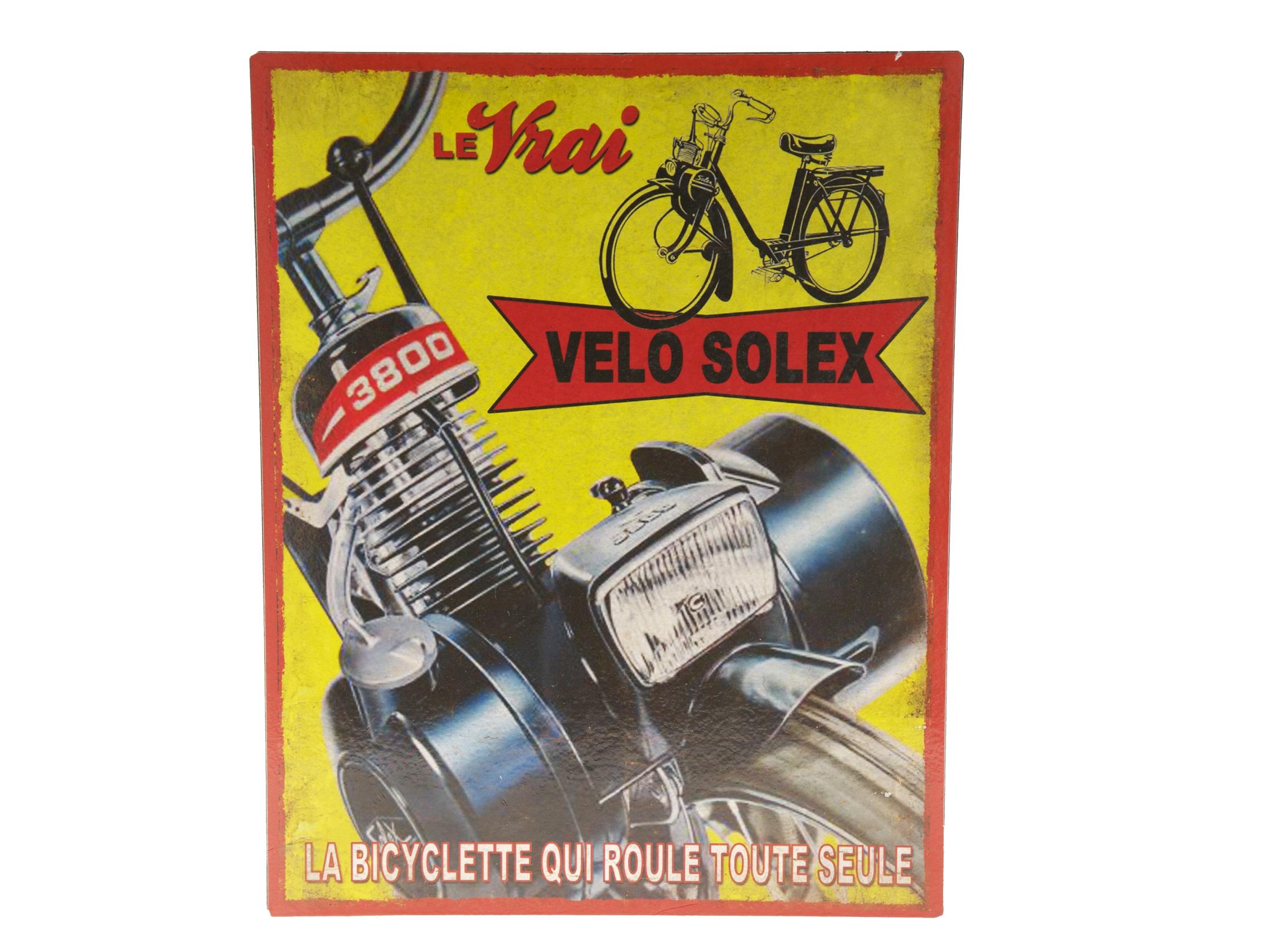 Табличка Le vrai veloДругое<br><br><br>Material: Металл<br>Length см: None<br>Width см: 24.2<br>Depth см: 3<br>Height см: 30.8