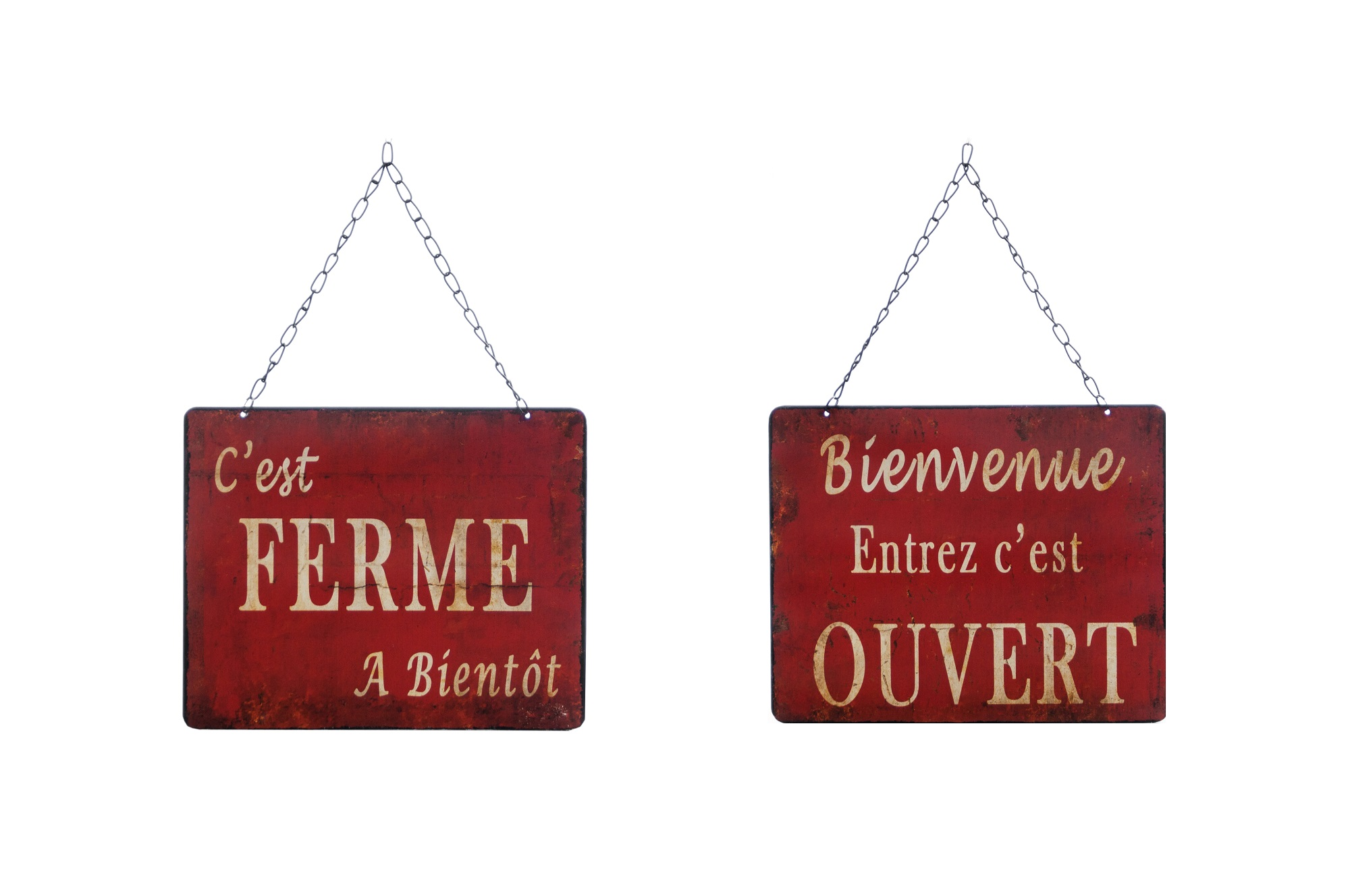 Табличка Ouvert-FermeДругое<br><br><br>Material: Железо<br>Length см: None<br>Width см: 27.5<br>Depth см: 5<br>Height см: 22