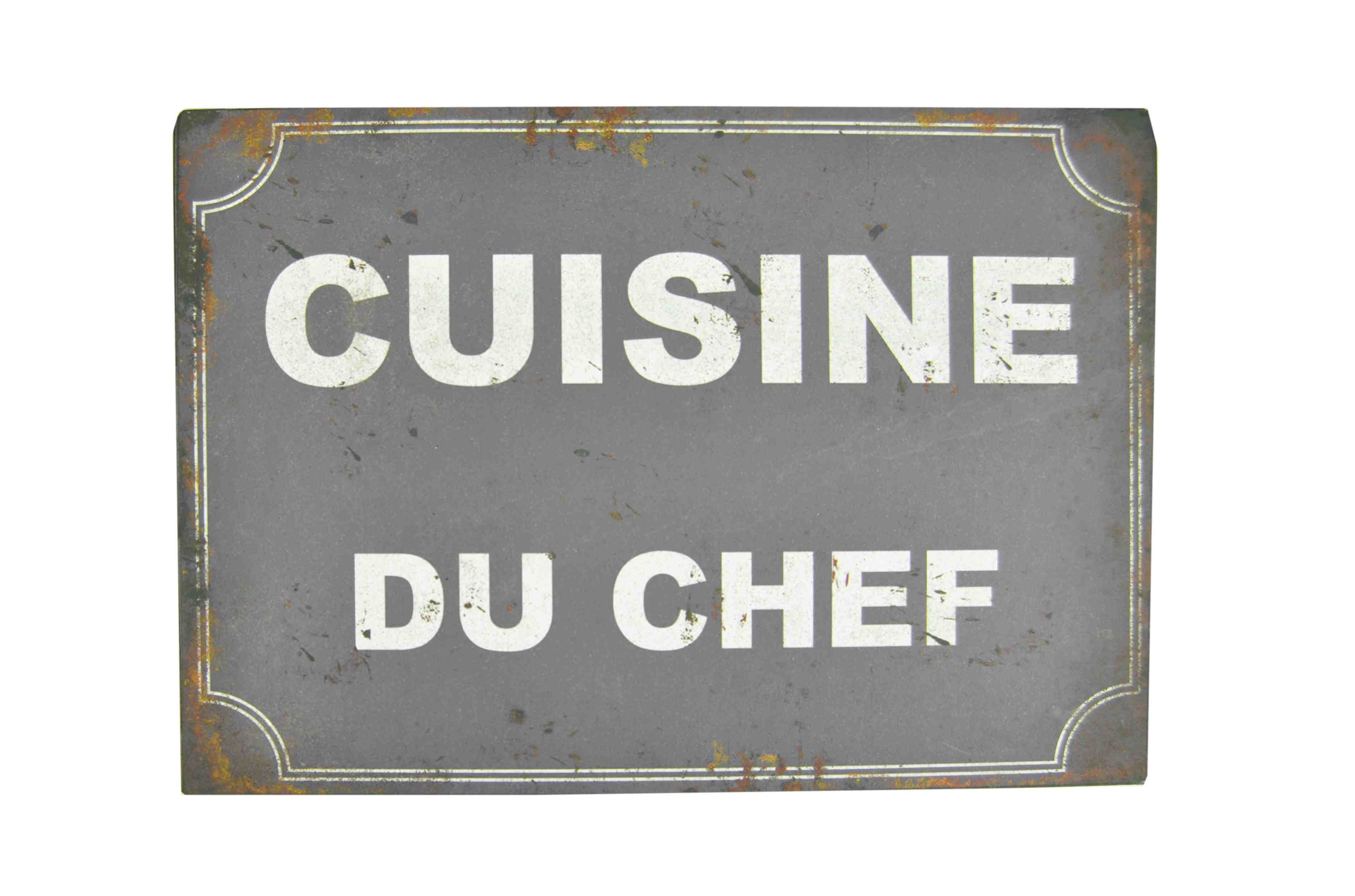 Табличка Сuisine du chefДругое<br>Материал: Железо, Бумага<br><br>Material: Железо<br>Length см: None<br>Width см: 33<br>Depth см: 2<br>Height см: 23.1