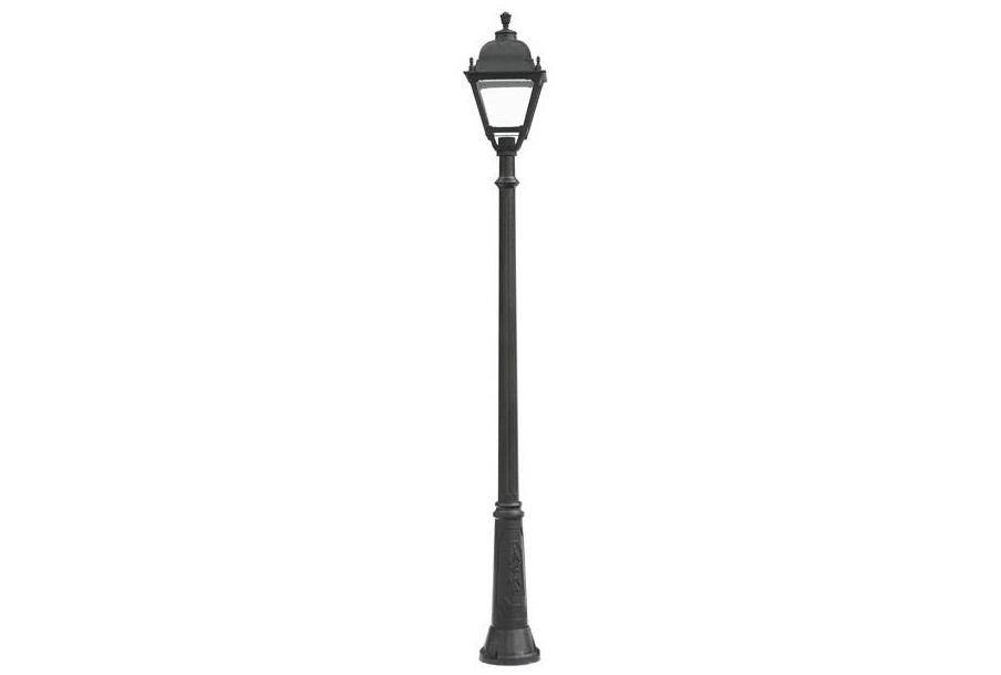 Светильник уличный RICUУличные наземные светильники<br>Большие уличные квадратные светильники FUMAGALLI  серии SIMON   - изготовлены в Италии. Корпус изготовлен из современного композитного полимера RESIN. Прочного, окрашенного в массе, не ржавеющего и не выгорающего на солнце. Все светильники пыле-влаго защищены по стандарту IP65. В комплекте идут крепежи и закладные элементы. Рассеиватель выполнен из антивандального, не мутнеющего  и не горючего PMMA. Срок службы светильника - не менее 10 лет. Температура использования от +60 до -90. Могут быть в настенном, подвесном и наземном исполнении со столбами разной высоты, разным количеством и конфигурации голов. Столбы выше 150 см имеют в основе мощную стальную трубу с двойной оцинковкой и полимерным наполнителем. При заказе требуется выбрать цвет корпуса, цвет плафона и тип патрона.&amp;lt;div&amp;gt;&amp;lt;br&amp;gt;&amp;lt;/div&amp;gt;&amp;lt;div&amp;gt;&amp;lt;div&amp;gt;Вид цоколя: E27&amp;lt;/div&amp;gt;&amp;lt;div&amp;gt;Мощность: 100W&amp;lt;/div&amp;gt;&amp;lt;div&amp;gt;Количество ламп: 1 (нет в комплекте)&amp;lt;/div&amp;gt;&amp;lt;div&amp;gt;Материал: полимер&amp;lt;/div&amp;gt;&amp;lt;/div&amp;gt;<br><br>Material: Пластик<br>Height см: 255<br>Diameter см: 33