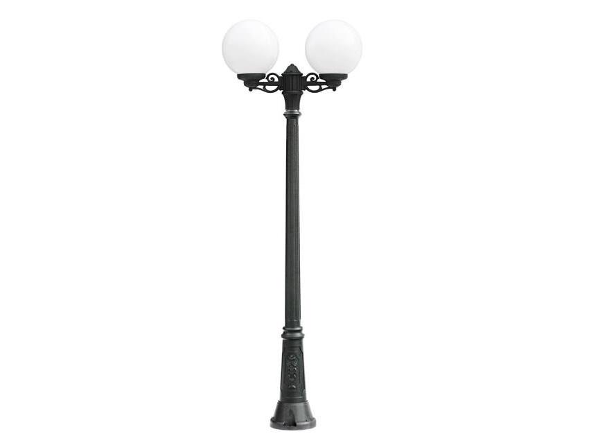 Светильник уличный BISSOУличные наземные светильники<br>Средние шаровые уличные светильники FUMAGALLI  серии GLOBE 300  - изготовлены в Италии. Корпус изготовлен из современного композитного полимера RESIN. Прочного, окрашенного в массе, не ржавеющего и не выгорающего на солнце. Все светильники пыле-влаго защищены по стандарту IP55. В комплекте идут крепежи и закладные элементы. Рассеиватель выполнен из антивандального, не мутнеющего  и не горючего PMMA. Срок службы светильника - не менее 10 лет. Температура использования от +60 до -90. Могут быть в настенном, подвесном и наземном исполнении со столбами разной высоты, разным количеством и конфигурации голов. Столбы выше 150 см имеют в основе мощную стальную трубу с двойной оцинковкой и полимерным наполнителем. При заказе требуется выбрать цвет корпуса, цвет плафона и тип патрона.&amp;lt;div&amp;gt;&amp;lt;br&amp;gt;&amp;lt;/div&amp;gt;&amp;lt;div&amp;gt;&amp;lt;div&amp;gt;Вид цоколя: E27&amp;lt;/div&amp;gt;&amp;lt;div&amp;gt;Мощность: 75W&amp;lt;/div&amp;gt;&amp;lt;div&amp;gt;Количество ламп: 2 (нет в комплекте)&amp;lt;/div&amp;gt;&amp;lt;div&amp;gt;Материал: полимер&amp;lt;/div&amp;gt;&amp;lt;/div&amp;gt;<br><br>Material: Пластик<br>Высота см: 225