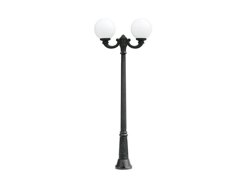 Светильник уличный GIGI OFIRУличные наземные светильники<br>Средние шаровые уличные светильники FUMAGALLI  серии GLOBE 300  - изготовлены в Италии. Корпус изготовлен из современного композитного полимера RESIN. Прочного, окрашенного в массе, не ржавеющего и не выгорающего на солнце. Все светильники пыле-влаго защищены по стандарту IP55. В комплекте идут крепежи и закладные элементы. Рассеиватель выполнен из антивандального, не мутнеющего  и не горючего PMMA. Срок службы светильника - не менее 10 лет. Температура использования от +60 до -90. Могут быть в настенном, подвесном и наземном исполнении со столбами разной высоты, разным количеством и конфигурации голов. Столбы выше 150 см имеют в основе мощную стальную трубу с двойной оцинковкой и полимерным наполнителем. При заказе требуется выбрать цвет корпуса, цвет плафона и тип патрона.&amp;lt;div&amp;gt;&amp;lt;br&amp;gt;&amp;lt;/div&amp;gt;&amp;lt;div&amp;gt;&amp;lt;div&amp;gt;Вид цоколя: E27&amp;lt;/div&amp;gt;&amp;lt;div&amp;gt;Мощность: 75W&amp;lt;/div&amp;gt;&amp;lt;div&amp;gt;Количество ламп: 2 (нет в комплекте)&amp;lt;/div&amp;gt;&amp;lt;div&amp;gt;Материал: полимер&amp;lt;/div&amp;gt;&amp;lt;/div&amp;gt;<br><br>Material: Пластик<br>Width см: None<br>Height см: 200<br>Diameter см: 107