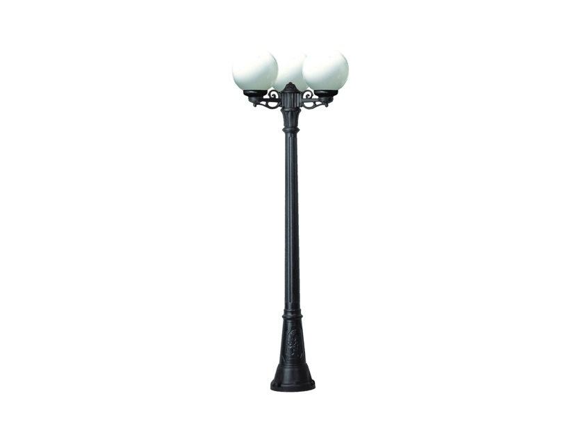 Светильник уличный ARTU BISSOУличные наземные светильники<br>Малые шаровые уличные светильники FUMAGALLI  серии GLOBE 250  - изготовлены в Италии. Корпус изготовлен из современного композитного полимера RESIN. Прочного, окрашенного в массе, не ржавеющего и не выгорающего на солнце. Все светильники пыле-влаго защищены по стандарту IP55. В комплекте идут крепежи и закладные элементы. Рассеиватель выполнен из антивандального, не мутнеющего  и не горючего PMMA. Срок службы светильника - не менее 10 лет. Температура использования от +60 до -90. Могут быть в настенном, подвесном и наземном исполнении со столбами разной высоты, разным количеством и конфигурации голов. Столбы выше 150 см имеют в основе мощную стальную трубу с двойной оцинковкой и полимерным наполнителем. При заказе требуется выбрать цвет корпуса, цвет плафона и тип патрона.&amp;lt;div&amp;gt;&amp;lt;br&amp;gt;&amp;lt;/div&amp;gt;&amp;lt;div&amp;gt;&amp;lt;div&amp;gt;Вид цоколя: E27&amp;lt;/div&amp;gt;&amp;lt;div&amp;gt;Мощность: 60W&amp;lt;/div&amp;gt;&amp;lt;div&amp;gt;Количество ламп: 3 (нет в комплекте)&amp;lt;/div&amp;gt;&amp;lt;div&amp;gt;Материал: полимер&amp;lt;/div&amp;gt;&amp;lt;/div&amp;gt;<br><br>Material: Пластик<br>Width см: None<br>Height см: 170<br>Diameter см: 62