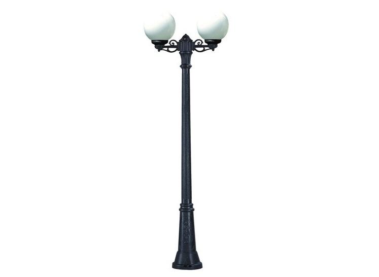 Светильник уличный GIGI BISSOУличные наземные светильники<br>Малые шаровые уличные светильники FUMAGALLI  серии GLOBE 250  - изготовлены в Италии. Корпус изготовлен из современного композитного полимера RESIN. Прочного, окрашенного в массе, не ржавеющего и не выгорающего на солнце. Все светильники пыле-влаго защищены по стандарту IP55. В комплекте идут крепежи и закладные элементы. Рассеиватель выполнен из антивандального, не мутнеющего  и не горючего PMMA. Срок службы светильника - не менее 10 лет. Температура использования от +60 до -90. Могут быть в настенном, подвесном и наземном исполнении со столбами разной высоты, разным количеством и конфигурации голов. Столбы выше 150 см имеют в основе мощную стальную трубу с двойной оцинковкой и полимерным наполнителем. При заказе требуется выбрать цвет корпуса, цвет плафона и тип патрона.&amp;lt;div&amp;gt;&amp;lt;br&amp;gt;&amp;lt;/div&amp;gt;&amp;lt;div&amp;gt;&amp;lt;div&amp;gt;Вид цоколя: E27&amp;lt;/div&amp;gt;&amp;lt;div&amp;gt;Мощность: 60W&amp;lt;/div&amp;gt;&amp;lt;div&amp;gt;Количество ламп: 2 (нет в комплекте)&amp;lt;/div&amp;gt;&amp;lt;div&amp;gt;Материал: полимер&amp;lt;/div&amp;gt;&amp;lt;/div&amp;gt;<br><br>Material: Пластик<br>Width см: None<br>Height см: 220<br>Diameter см: 67